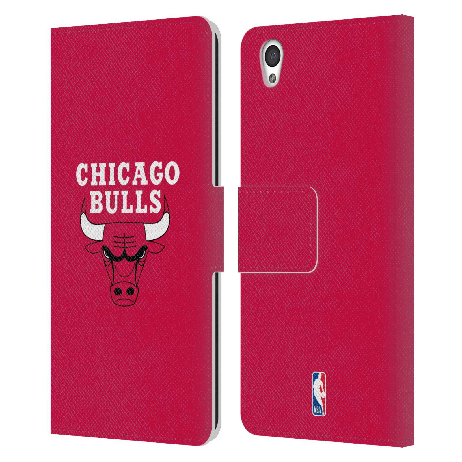 Pouzdro na mobil OnePlus X - Head Case -NBA - Chicago Bulls červená barva znak