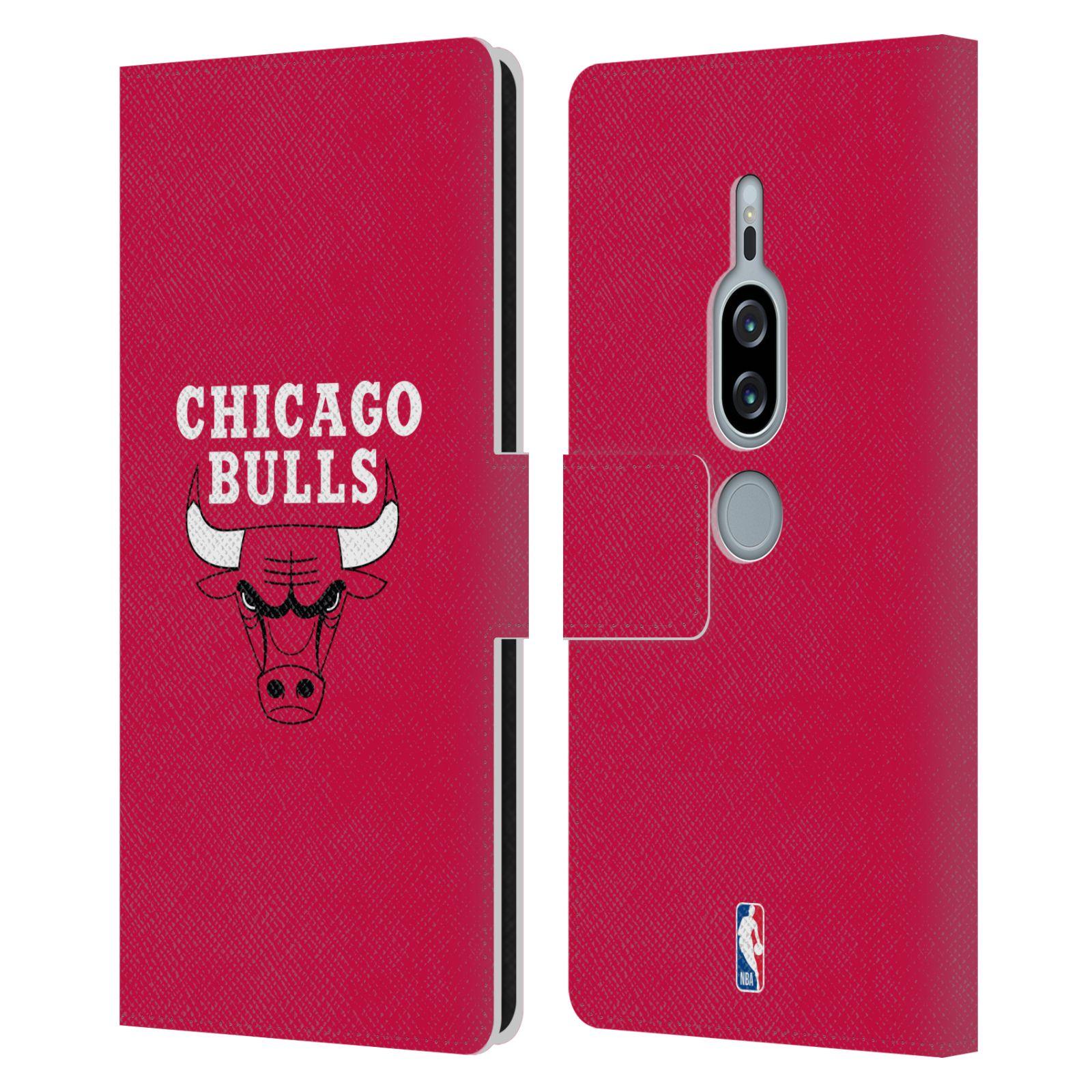 Pouzdro na mobil Sony Xperia XZ2 Premium - Head Case -NBA - Chicago Bulls červená barva znak