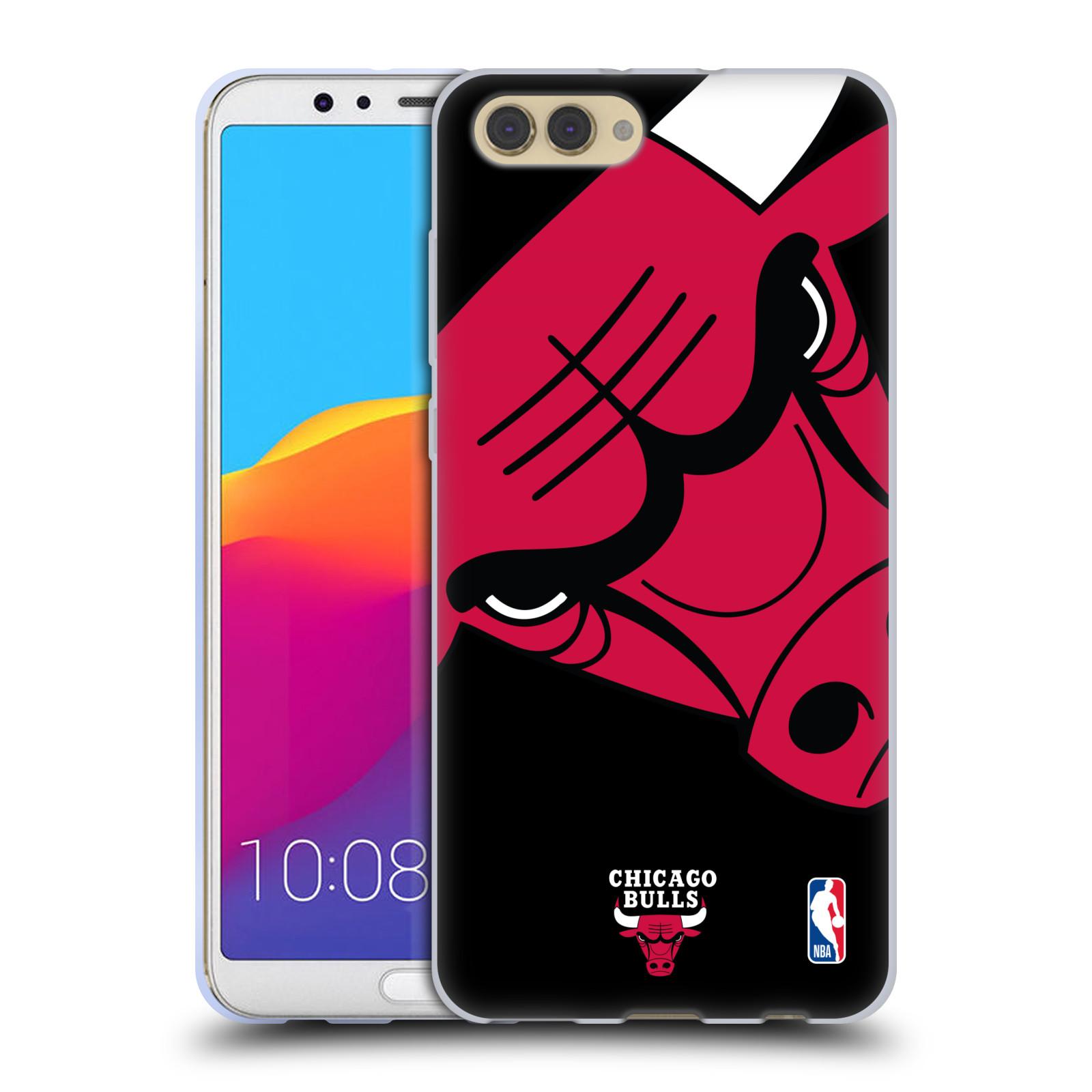HEAD CASE silikonový obal na mobil Huawei HONOR VIEW 10 / V10 NBA Basketbalový klub Chicago Bulls logo velké
