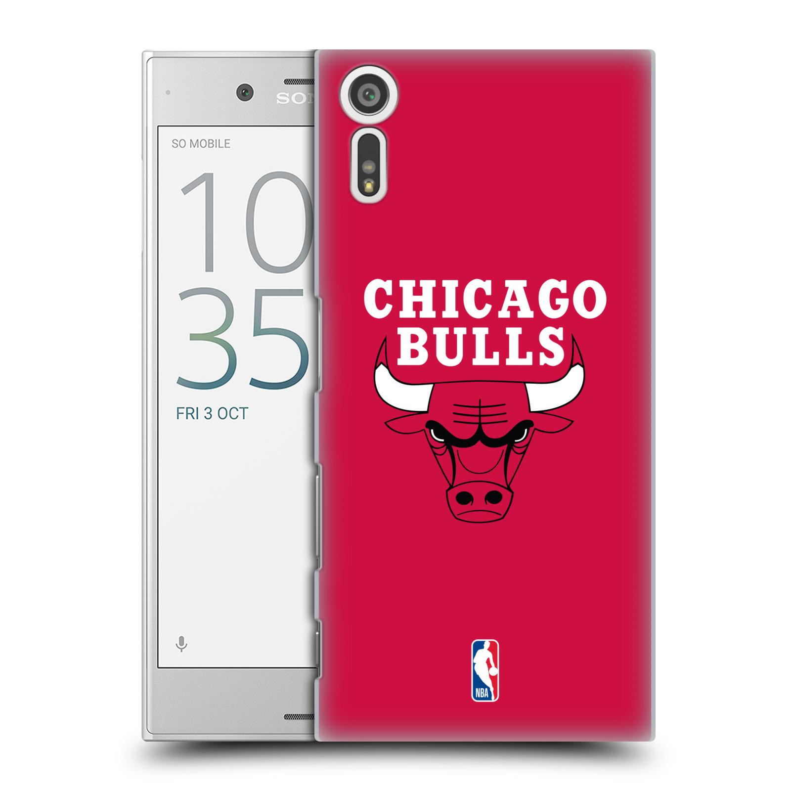 HEAD CASE plastový obal na mobil Sony Xperia XZ NBA Basketbalový klub Chicago Bulls logo červená
