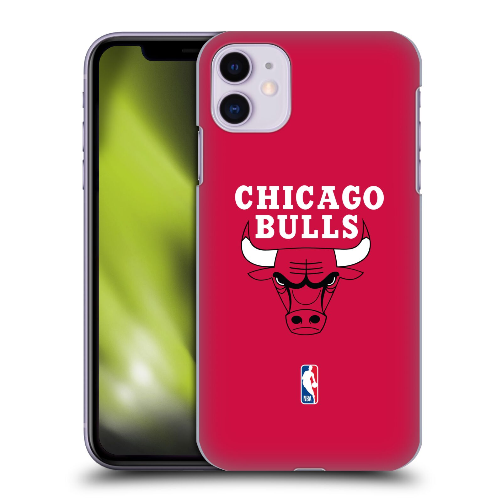 Pouzdro na mobil Apple Iphone 11 - HEAD CASE - NBA Basketbalový klub Chicago Bulls logo červená