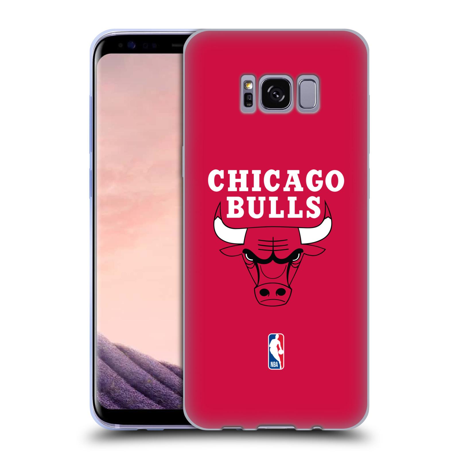 HEAD CASE silikonový obal na mobil Samsung Galaxy S8 NBA Basketbalový klub Chicago Bulls logo červená