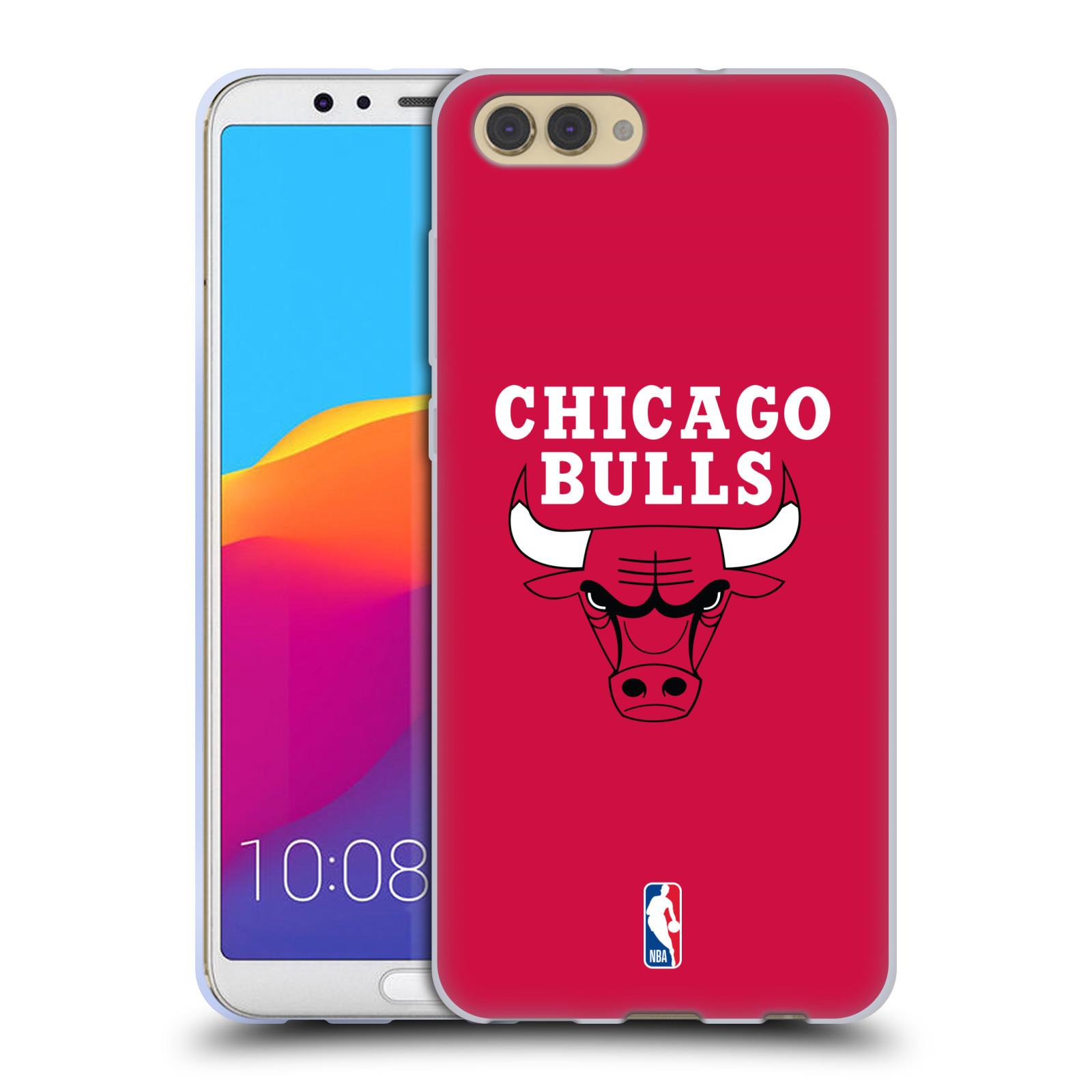 HEAD CASE silikonový obal na mobil Huawei HONOR VIEW 10 / V10 NBA Basketbalový klub Chicago Bulls logo červená