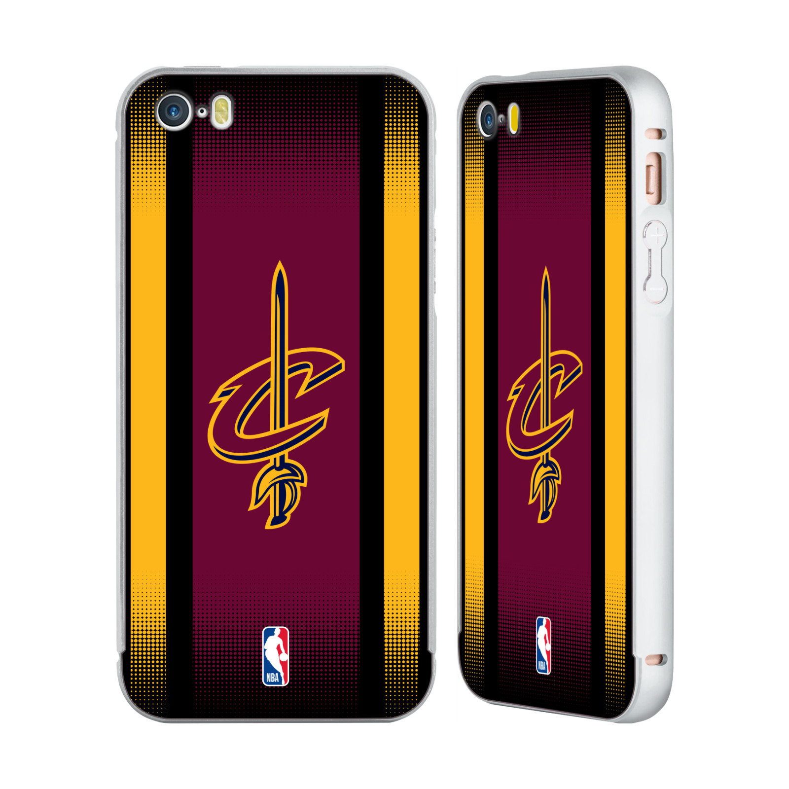 NBA-CLEVELAND-CAVALIERS-ARGENTO-COVER-CONTORNO-PER-APPLE-iPHONE-TELEFONI