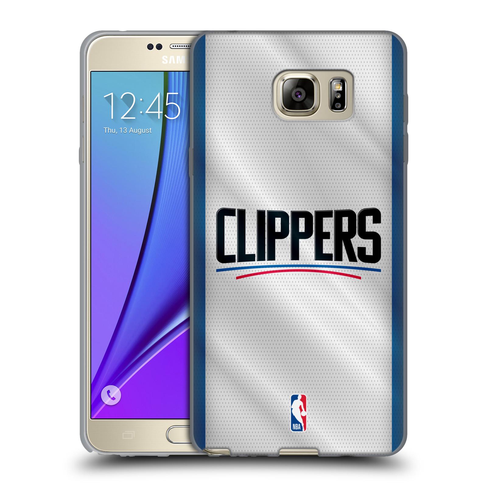 HEAD CASE silikonový obal na mobil Samsung Galaxy Note 5 NBA Basketbalový klub Los Angeles Clippers dres