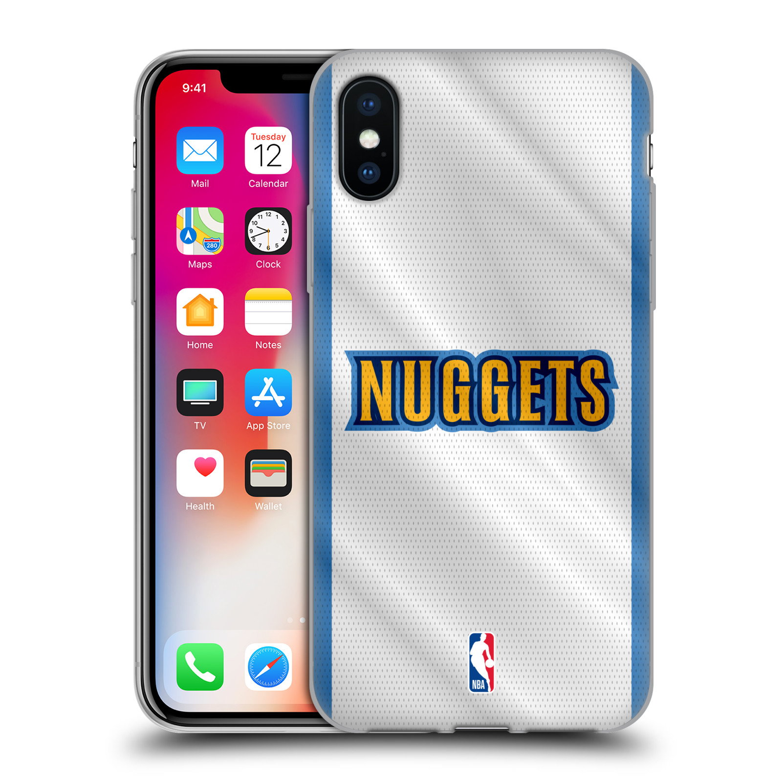 HEAD CASE silikonový obal na mobil Apple Iphone X NBA Basketbalový klub  Denver Nuggets dres 0d3bef4f610
