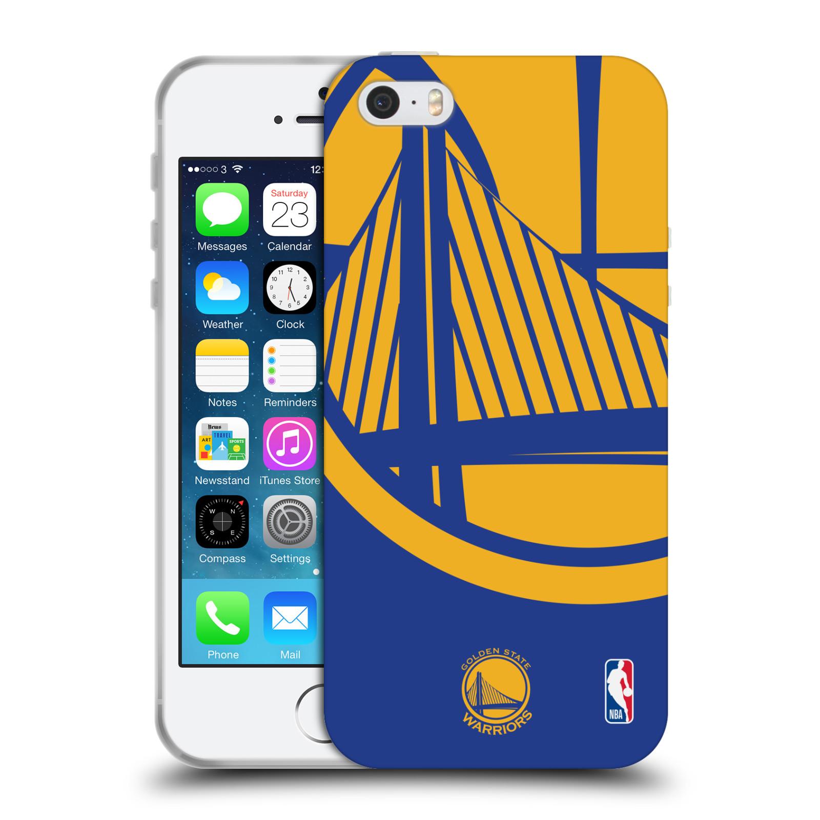 HEAD CASE silikonový obal na mobil Apple Iphone 5 5S NBA Basketbalový klub  Golden state warriors velký znak žlutá fe08560fc83