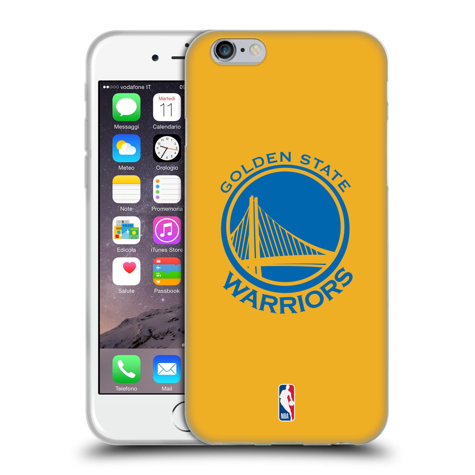 HEAD CASE silikonový obal na mobil Apple Iphone 6 6S NBA Basketbalový klub  Golden state warriors malý znak žlutá 9afc21b4d04