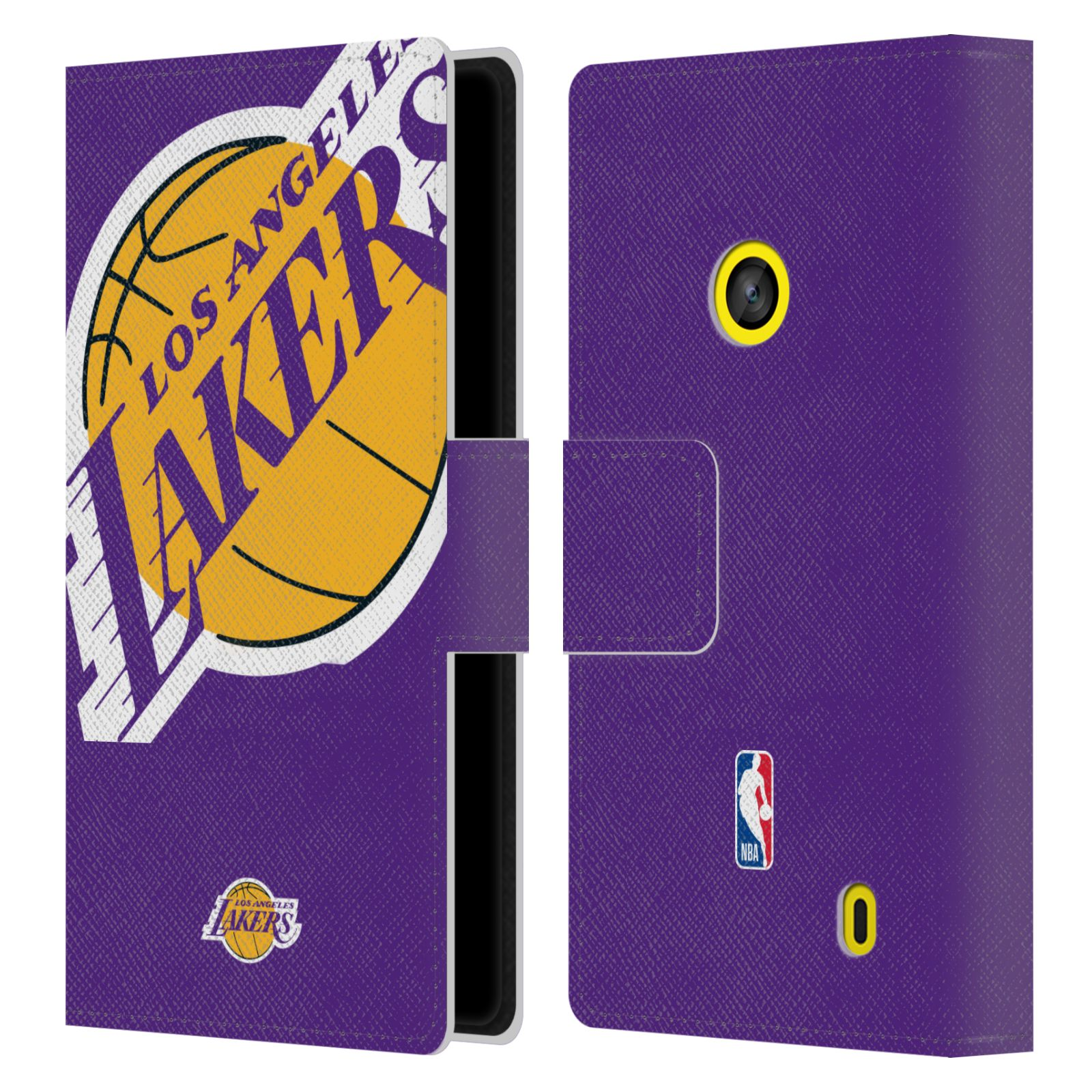 Pouzdro na mobil Nokia Lumia 520 - Head Case - NBA - Los Angeles Lakers velký znak