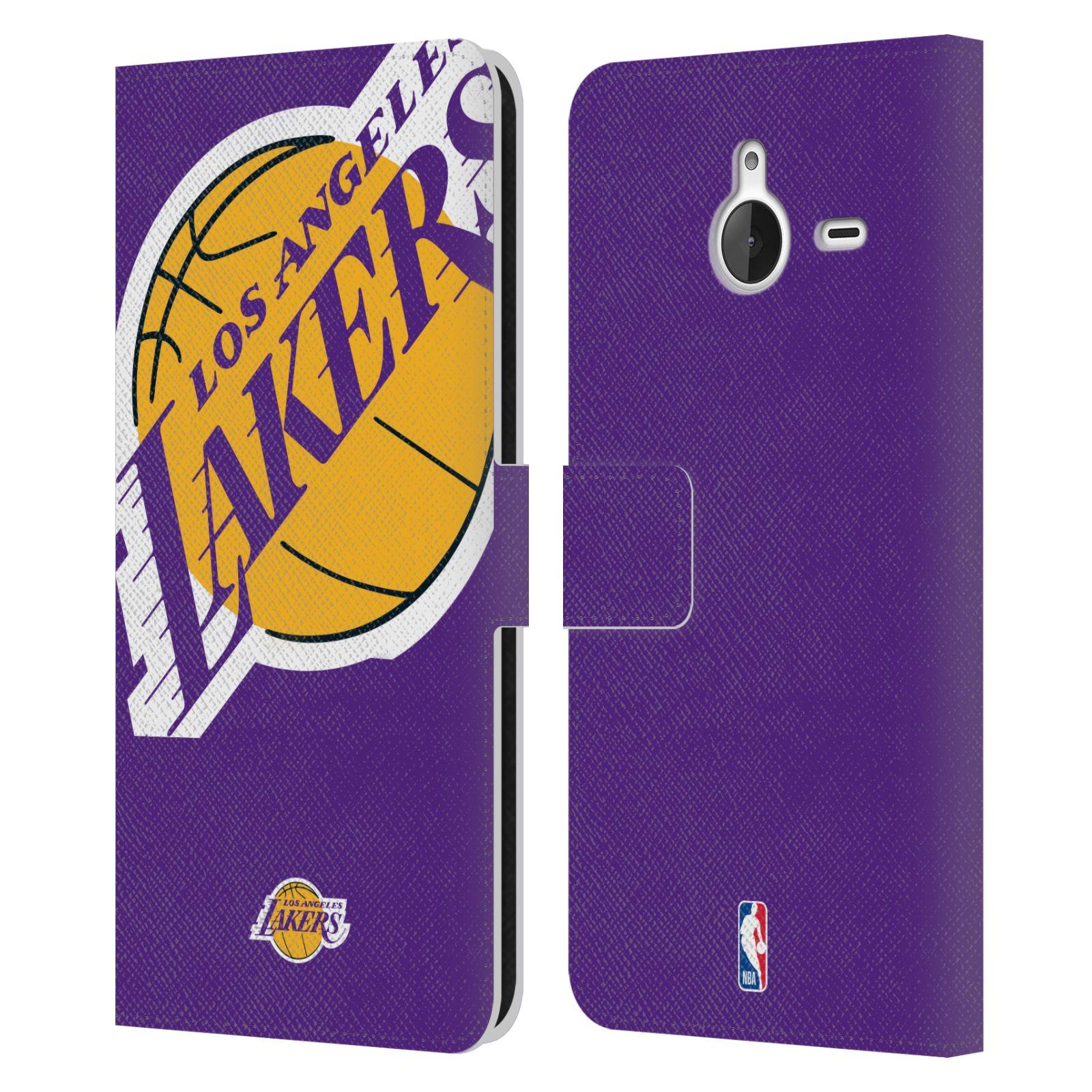 Pouzdro na mobil Nokia Lumia 640 XL - Head Case - NBA - Los Angeles Lakers velký znak