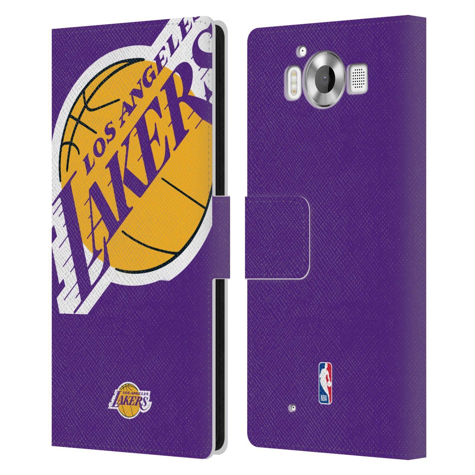 Pouzdro na mobil Nokia Lumia 950 - Head Case - NBA - Los Angeles Lakers velký znak
