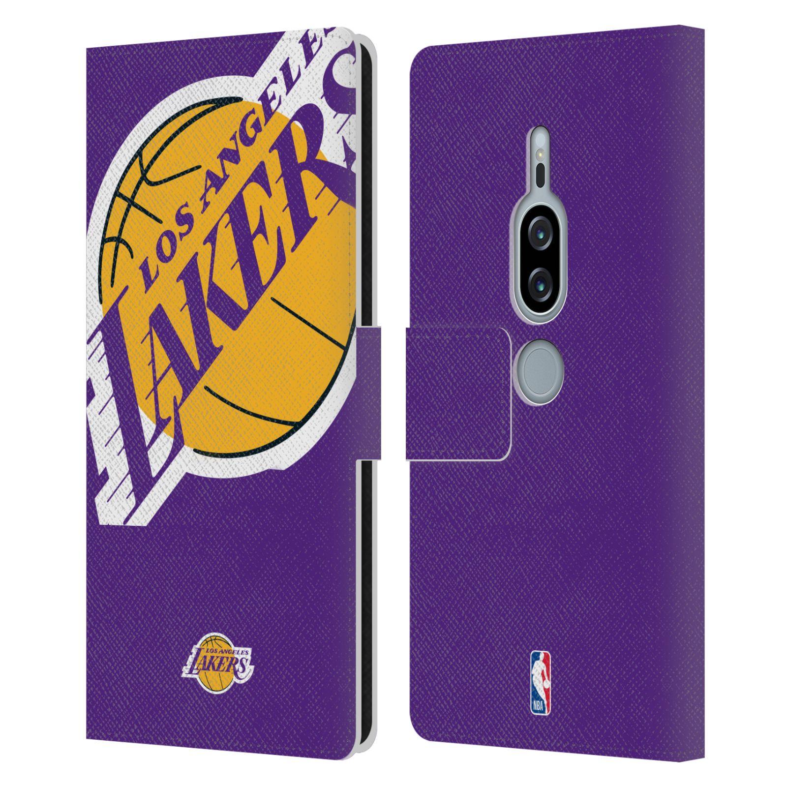 Pouzdro na mobil Sony Xperia XZ2 Premium - Head Case - NBA - Los Angeles Lakers velký znak