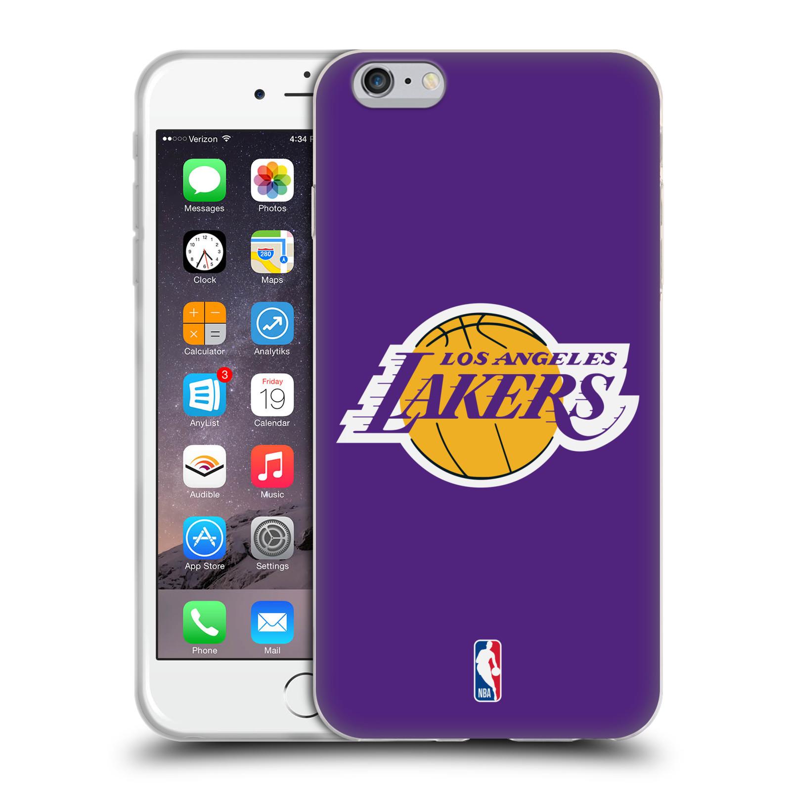 HEAD CASE silikonový obal na mobil Apple Iphone 6/6S PLUS NBA Basketbalový klub Los Angeles Lakers fialová malé logo