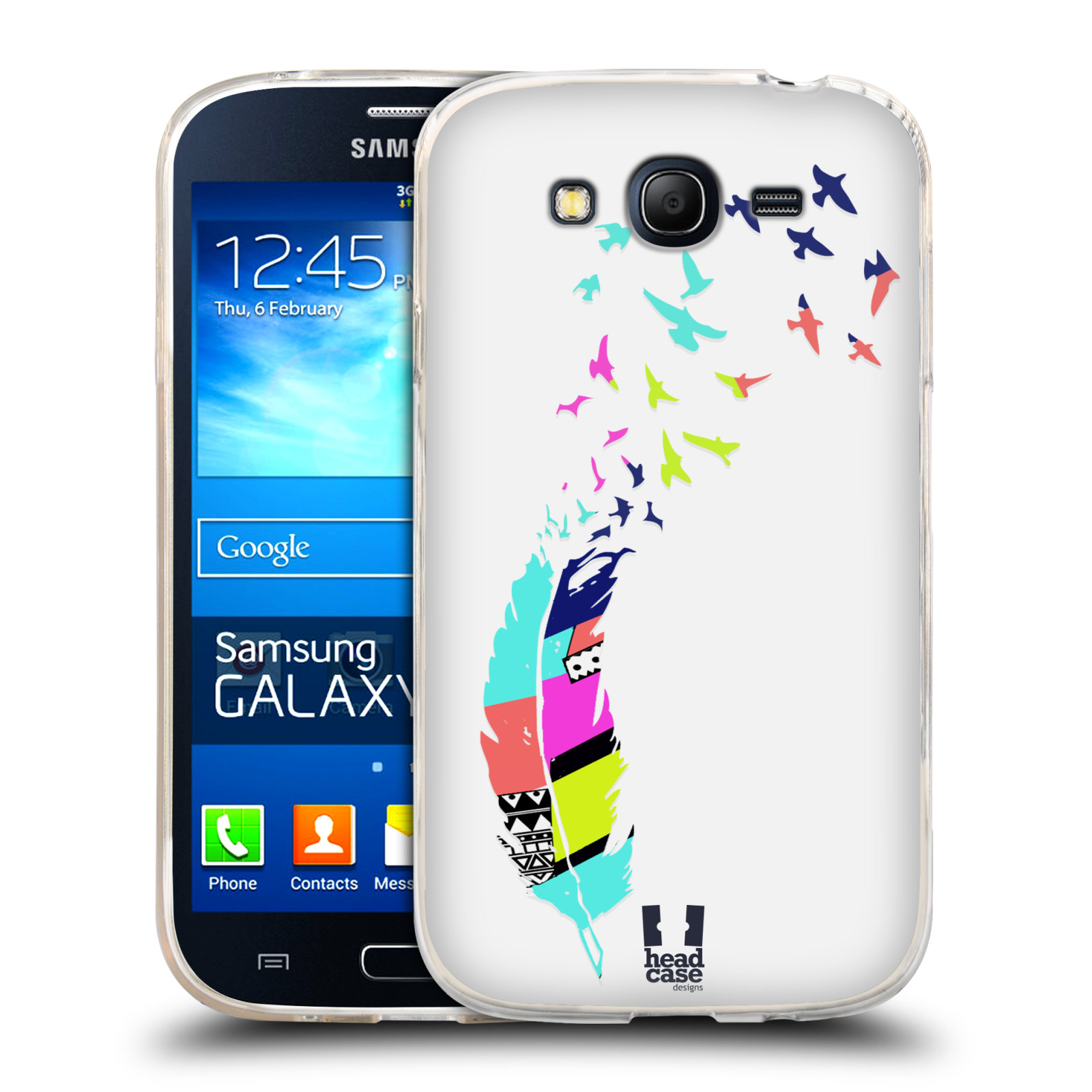 HEAD CASE NEON FEATHERS SILICONE GEL CASE FOR SAMSUNG GALAXY GRAND NEO I9060