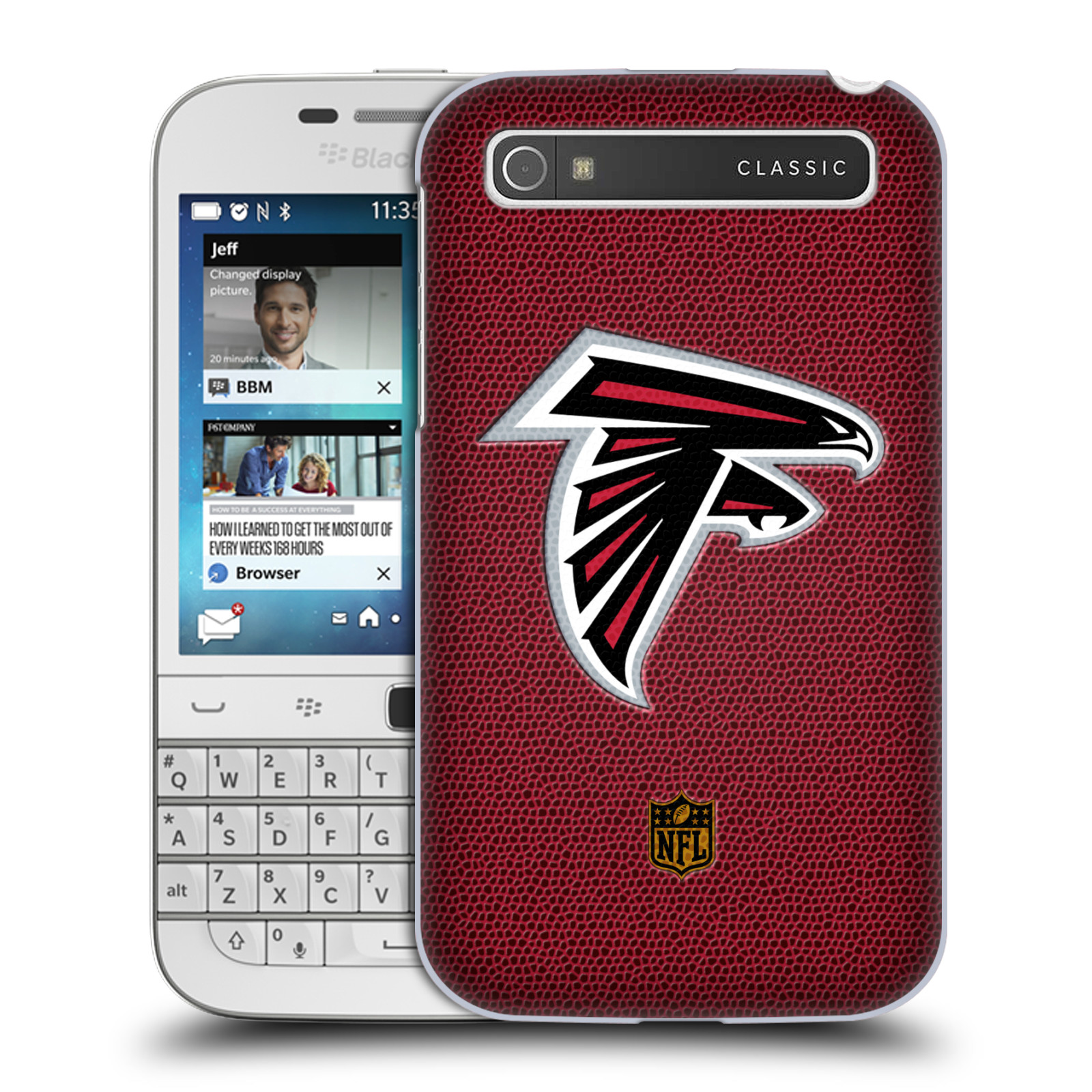 OFFICIAL NFL ATLANTA FALCONS LOGO HARD BACK CASE FOR BLACKBERRY PHONES ...