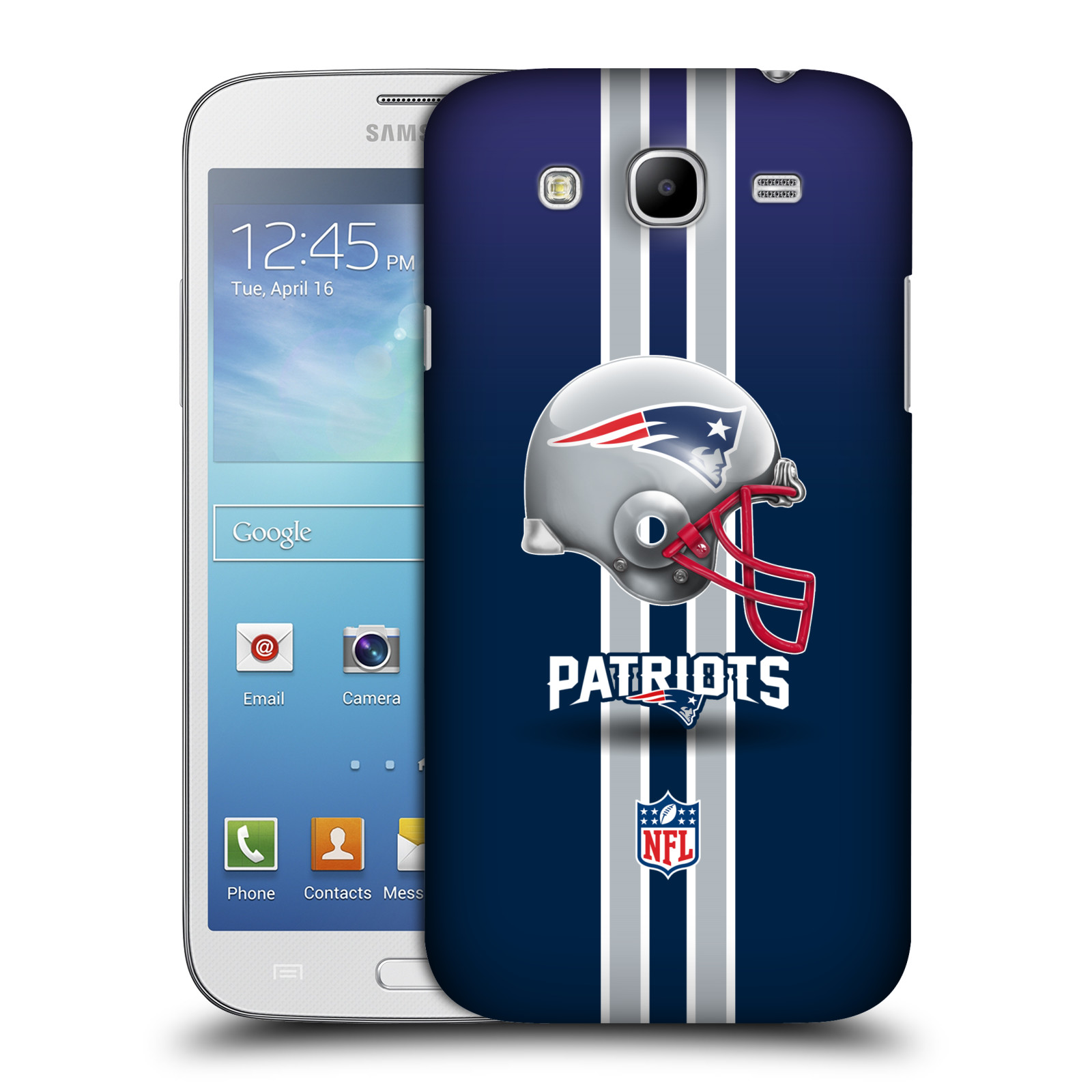 Official Nfl New England Patriots Logo Hard Back Case For