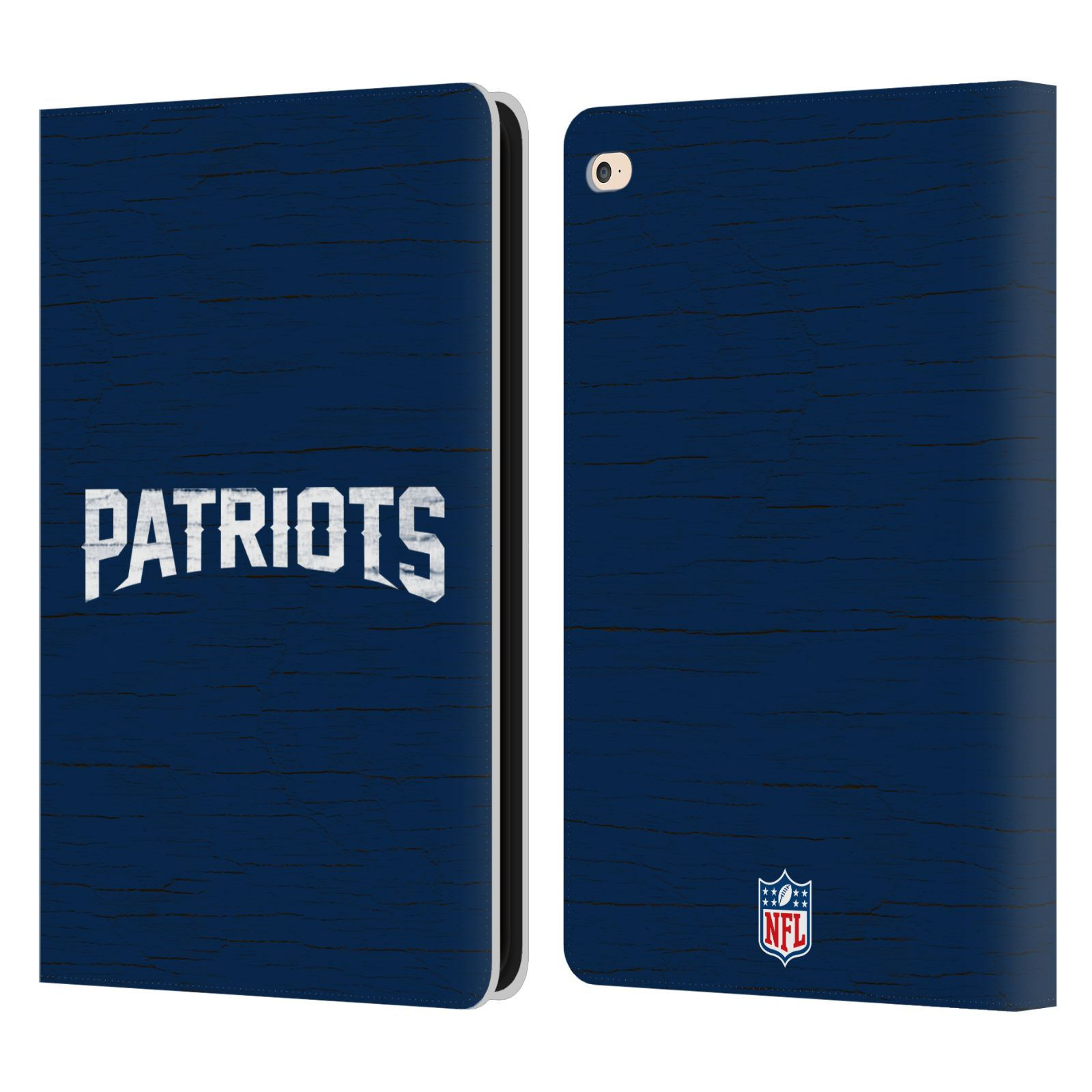 Official Nfl New England Patriots Logo Leather Book Wallet