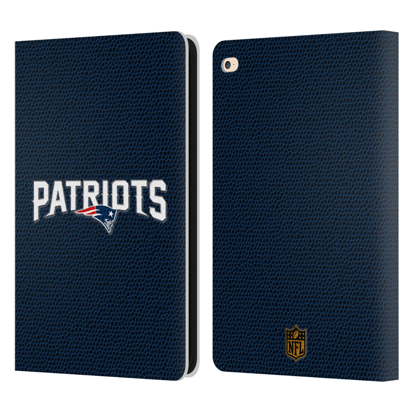Official Nfl New England Patriots Logo Leather Book Wallet Case For Apple Ipad Ebay