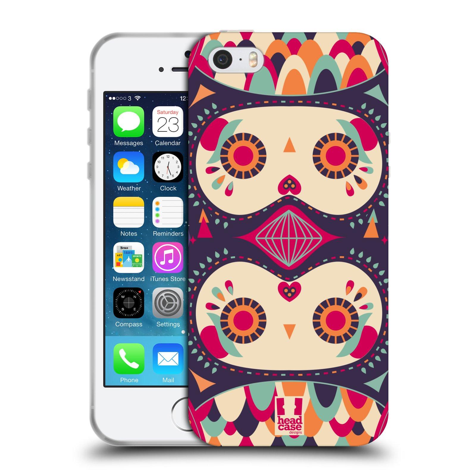 HEAD CASE silikonový obal na mobil Apple Iphone 5/5S vzor Stmívání sovička fialový sen