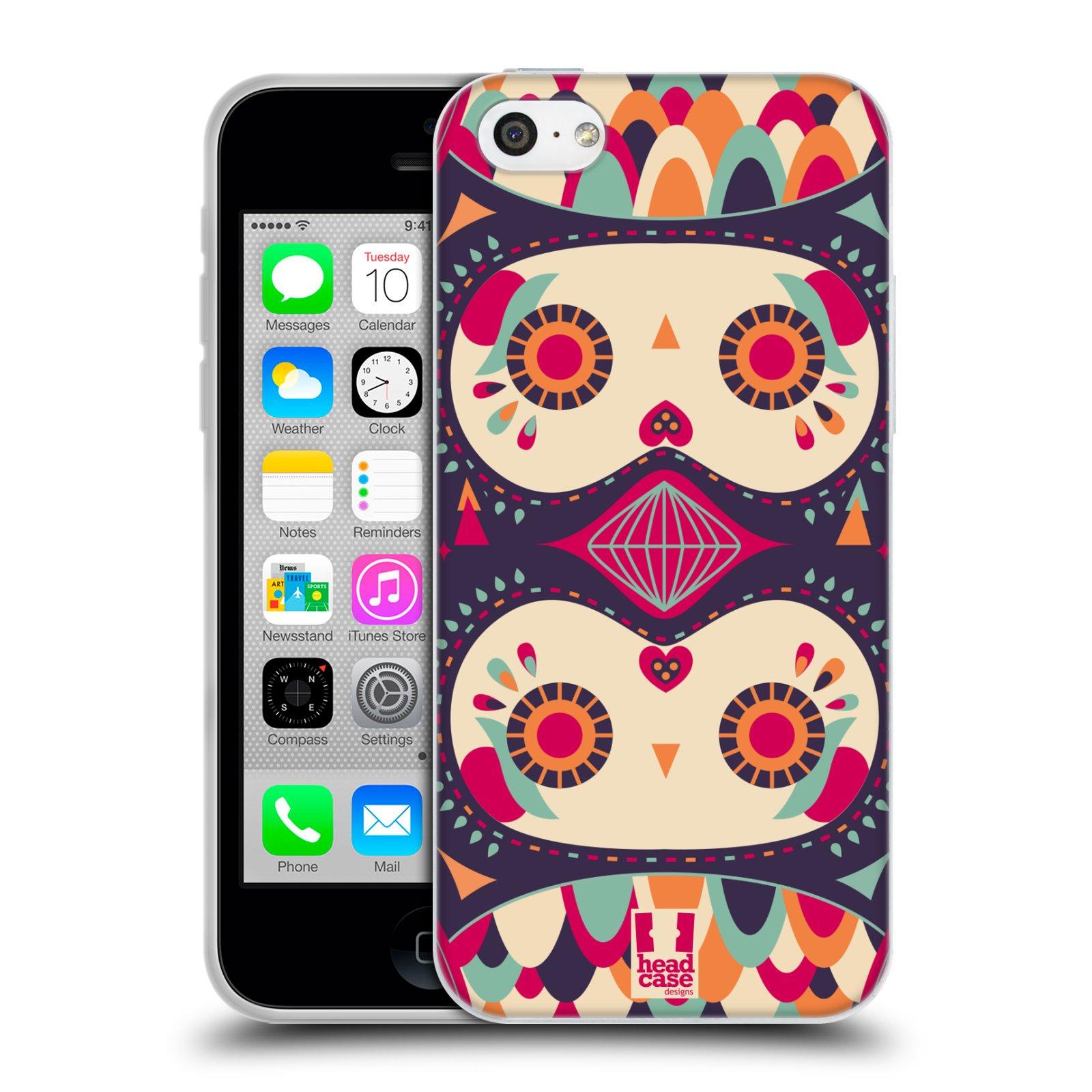 HEAD CASE silikonový obal na mobil Apple Iphone 5C vzor Stmívání sovička fialový sen