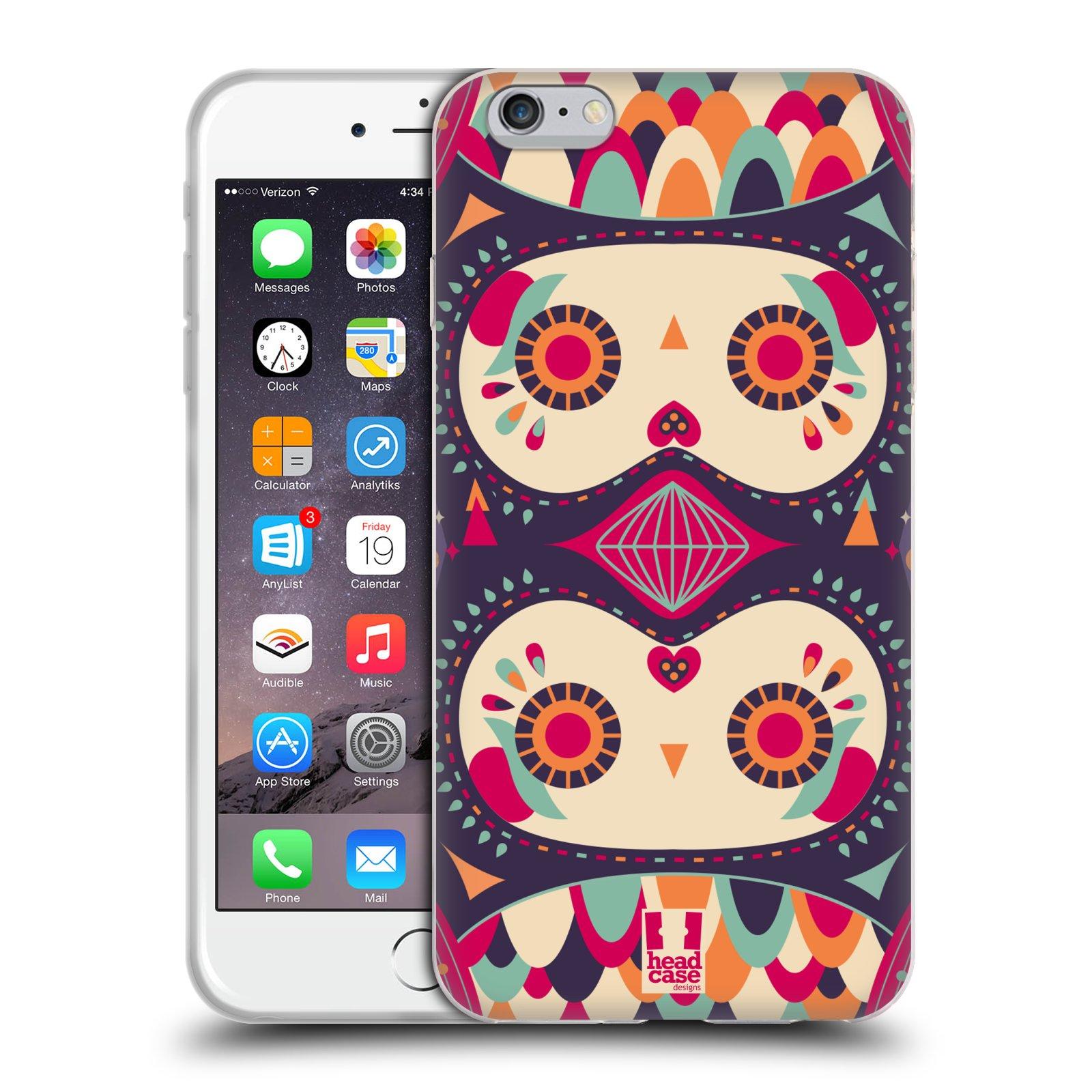 HEAD CASE silikonový obal na mobil Apple Iphone 6 PLUS/ 6S PLUS vzor Stmívání sovička fialový sen