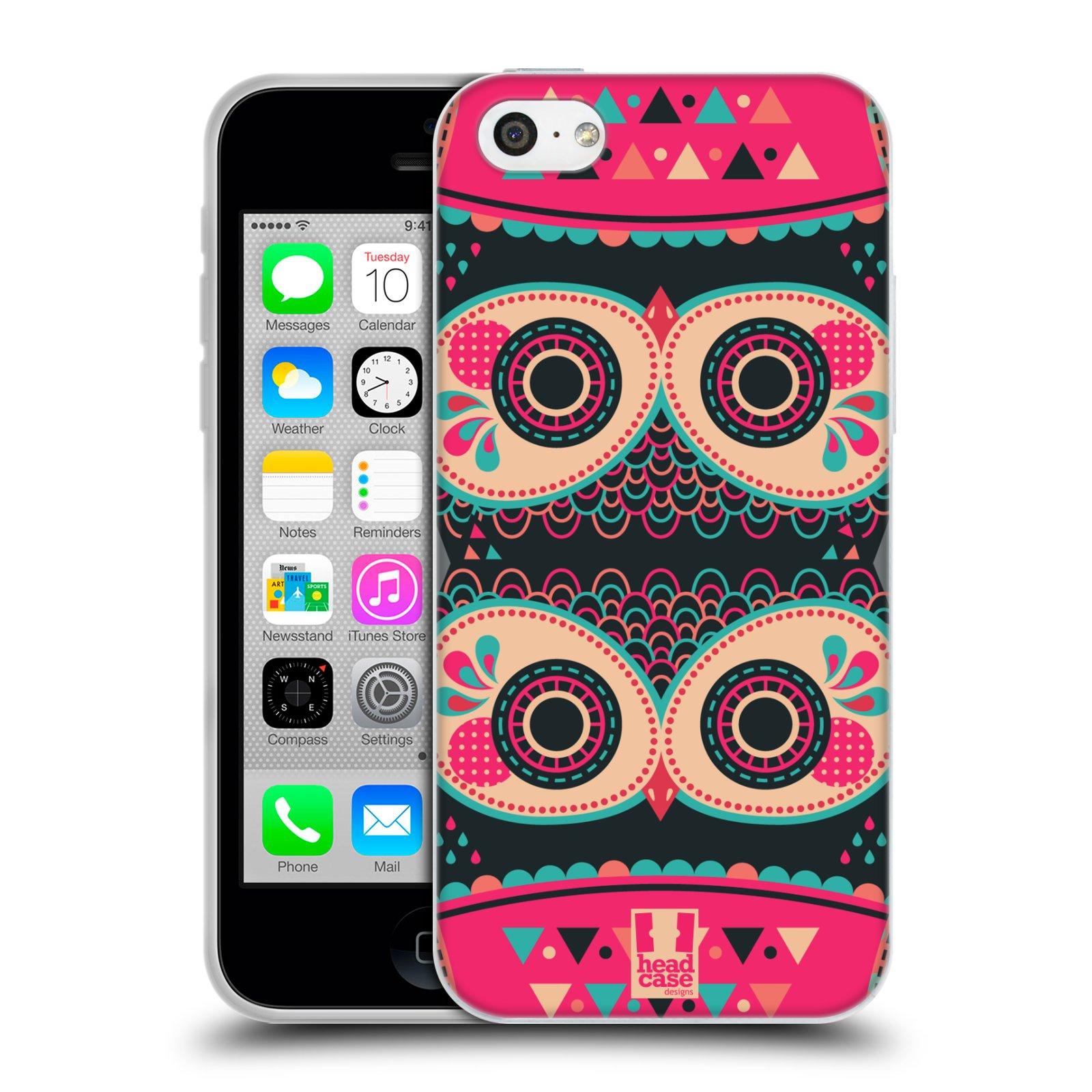HEAD CASE silikonový obal na mobil Apple Iphone 5C vzor Stmívání sovička FANCY růžová