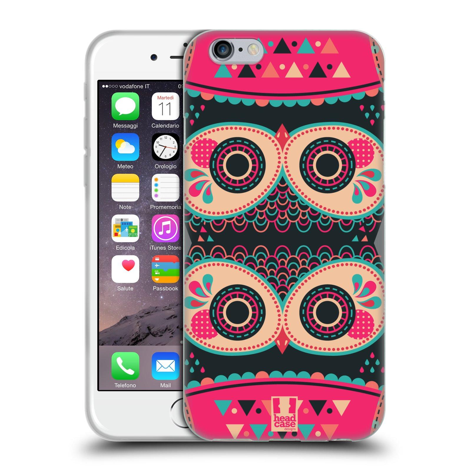 HEAD CASE silikonový obal na mobil Apple Iphone 6/6S vzor Stmívání sovička FANCY růžová