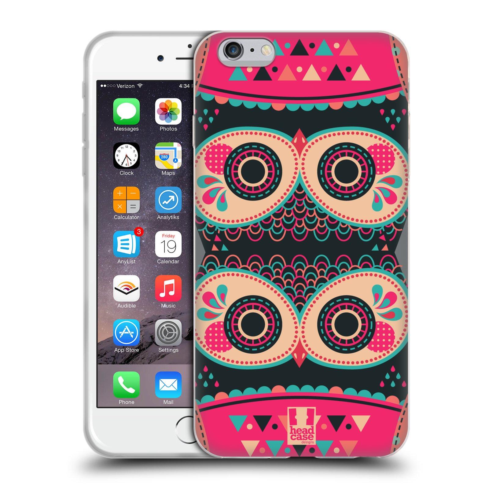 HEAD CASE silikonový obal na mobil Apple Iphone 6 PLUS/ 6S PLUS vzor Stmívání sovička FANCY růžová