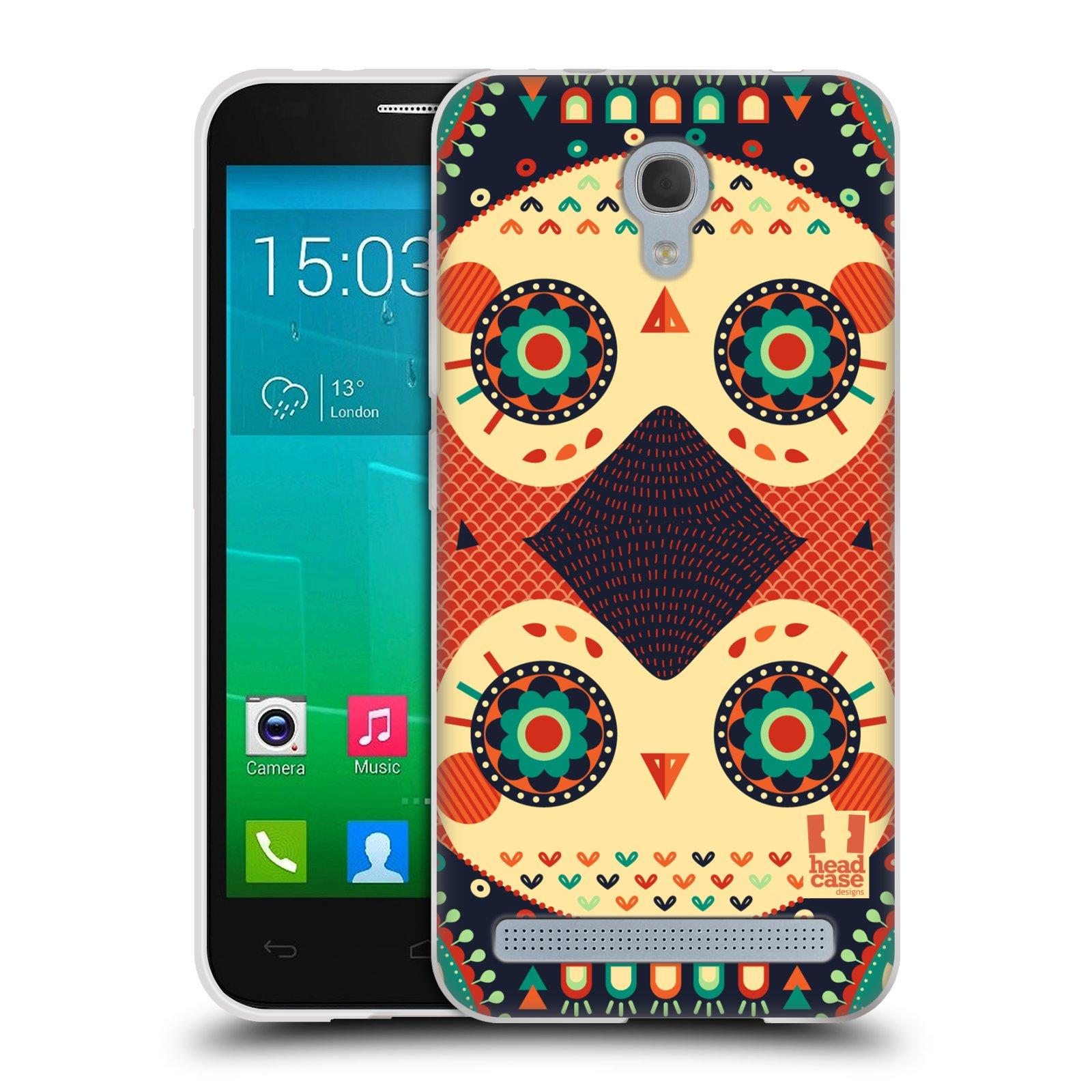 HEAD CASE silikonový obal na mobil Alcatel Idol 2 MINI S 6036Y vzor Stmívání sovička oranžová iluze