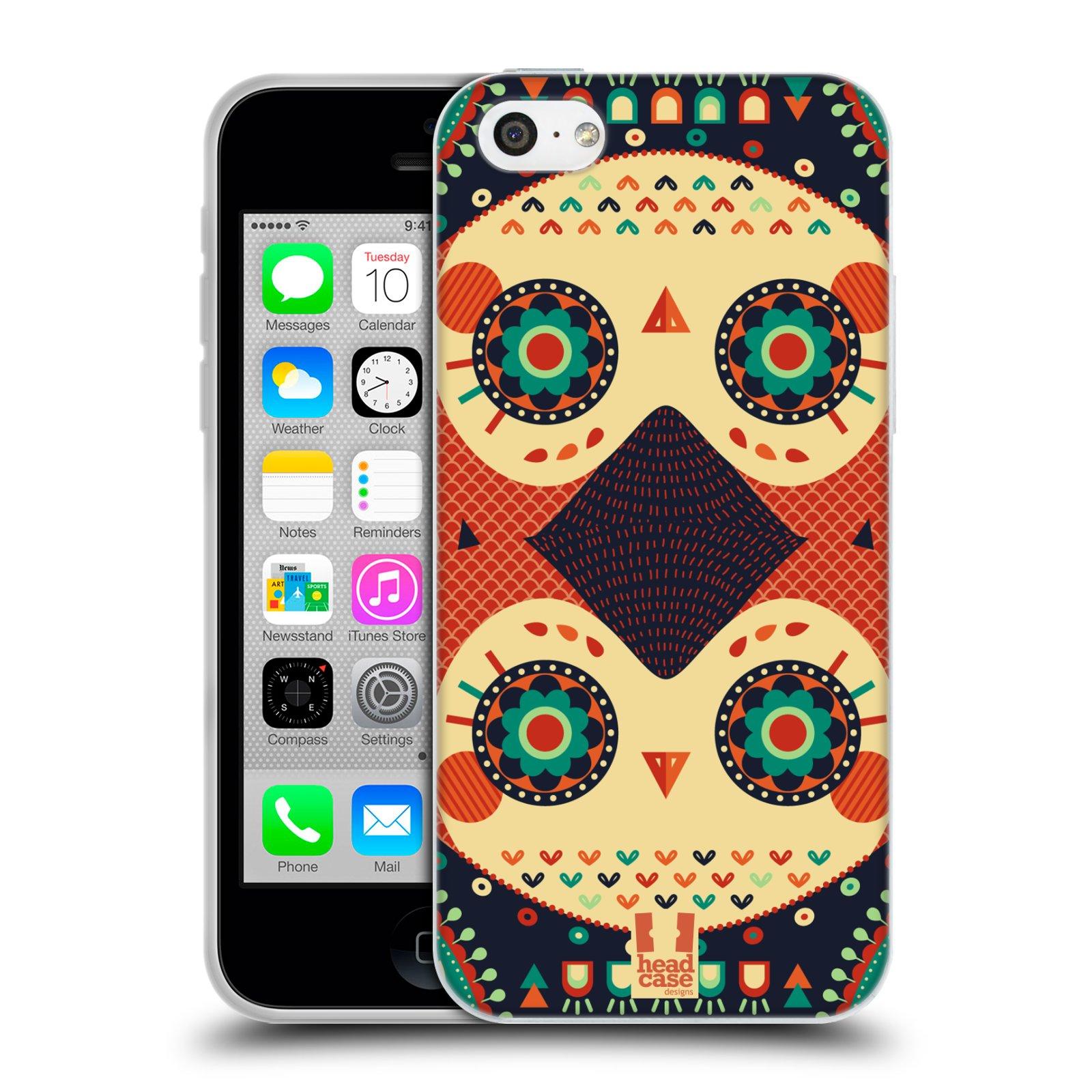 HEAD CASE silikonový obal na mobil Apple Iphone 5C vzor Stmívání sovička oranžová iluze