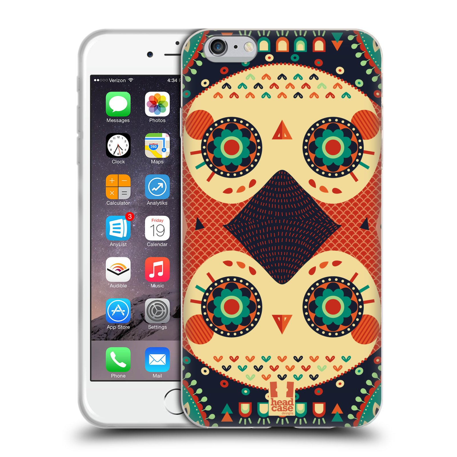 HEAD CASE silikonový obal na mobil Apple Iphone 6 PLUS/ 6S PLUS vzor Stmívání sovička oranžová iluze
