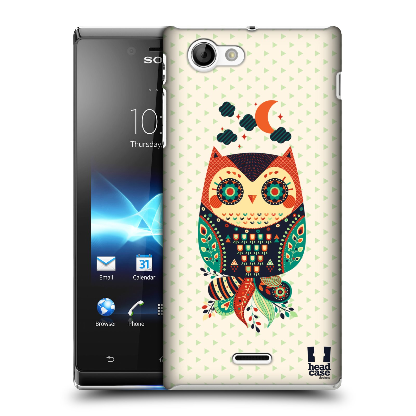 HEAD CASE DESIGNS NIGHTFALL OWLS CASE COVER FOR SONY XPERIA J ST26i