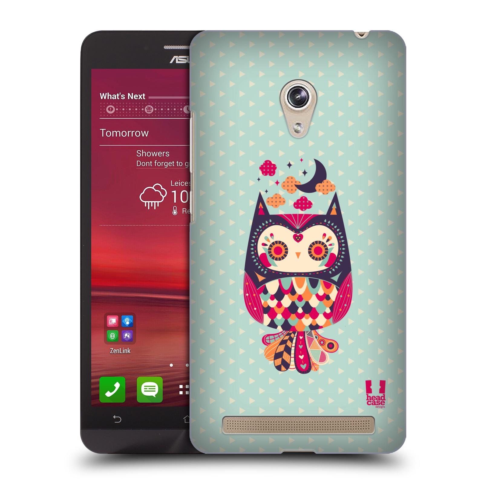 HEAD CASE plastový obal na mobil Asus Zenfone 6 vzor Stmívání sovička růžová a fialová