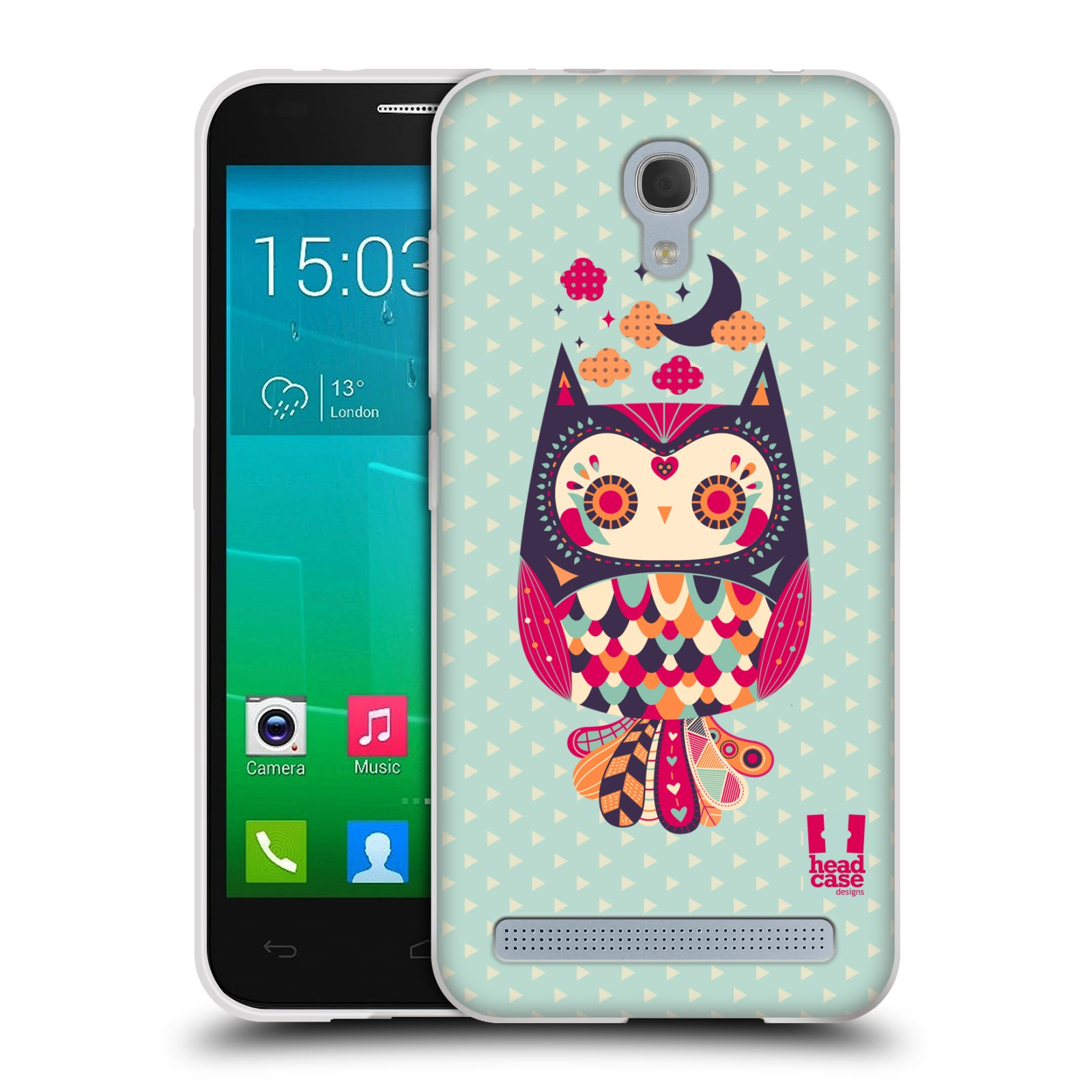 HEAD CASE silikonový obal na mobil Alcatel Idol 2 MINI S 6036Y vzor Stmívání sovička růžová a fialová