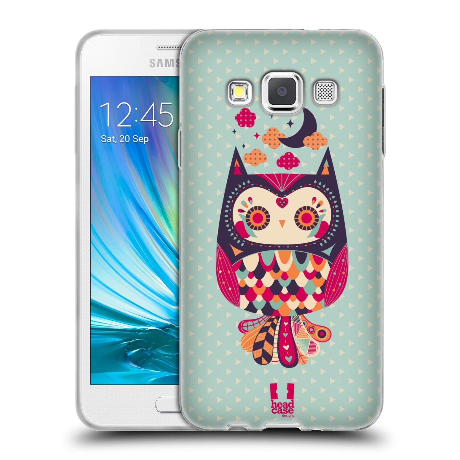 HEAD CASE silikonový obal na mobil Samsung Galaxy A3 vzor Stmívání sovička růžová a fialová