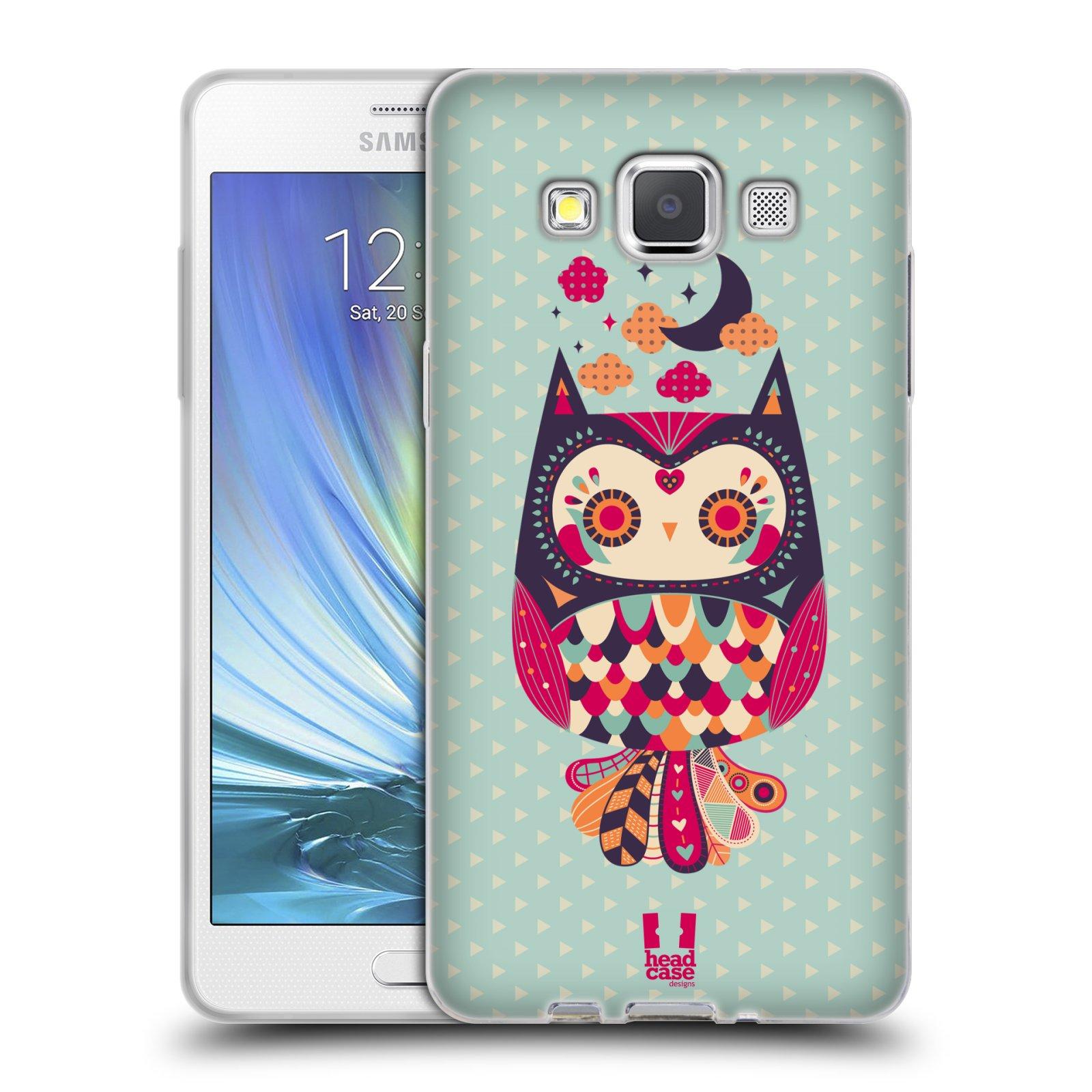 HEAD CASE silikonový obal na mobil Samsung Galaxy A5 vzor Stmívání sovička růžová a fialová