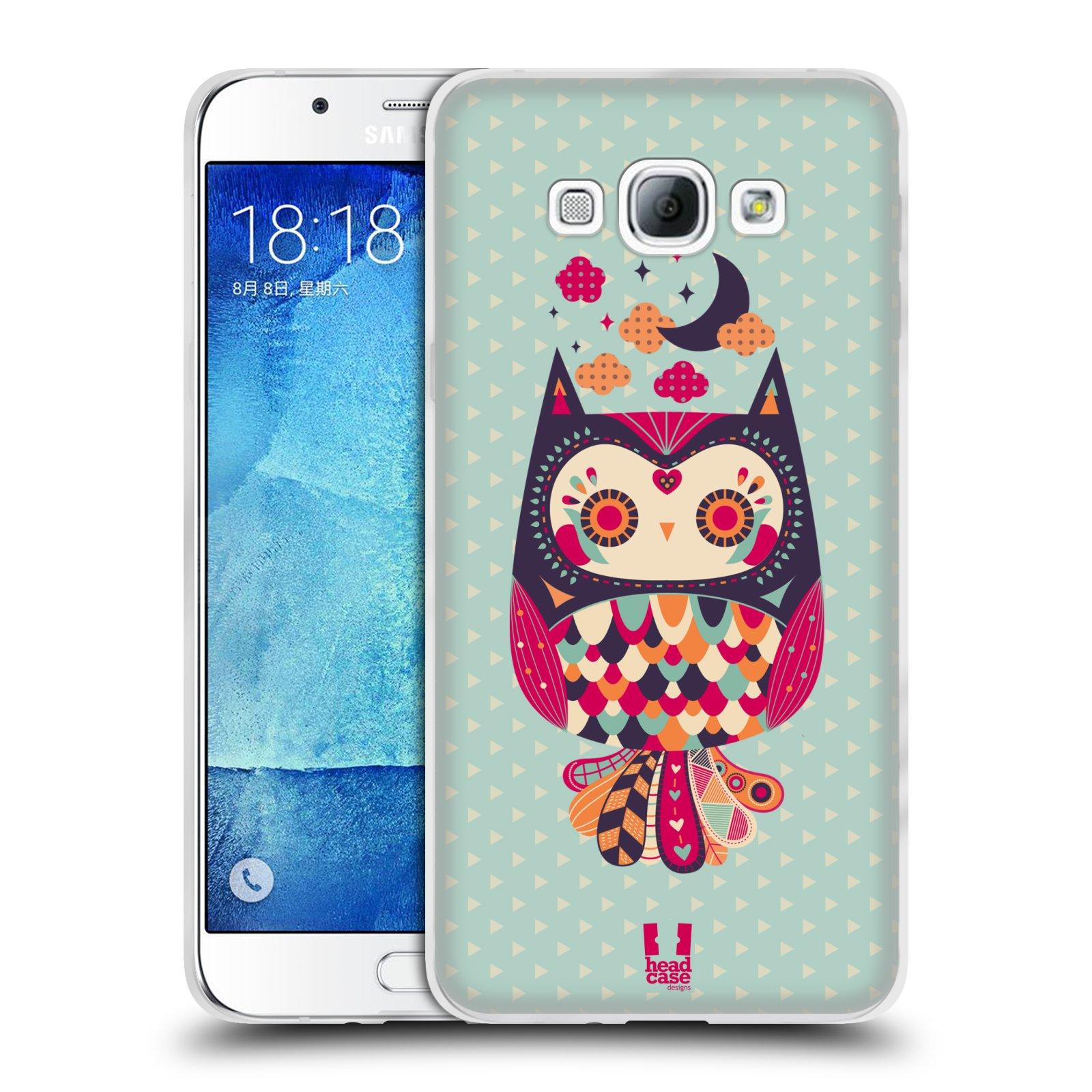 HEAD CASE silikonový obal na mobil Samsung Galaxy A8 vzor Stmívání sovička růžová a fialová