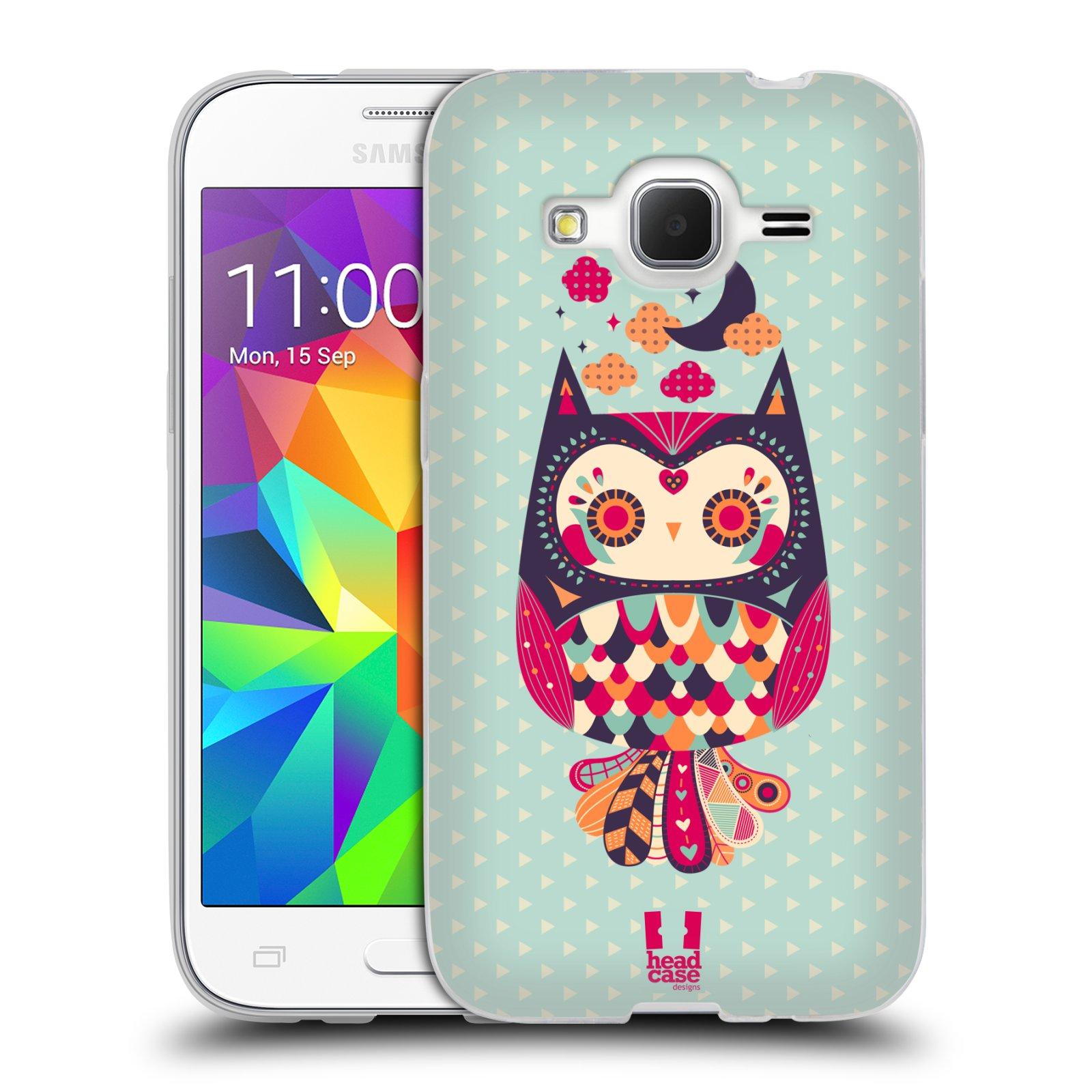 HEAD CASE silikonový obal na mobil Samsung Galaxy Core Prime (G360) vzor Stmívání sovička růžová a fialová