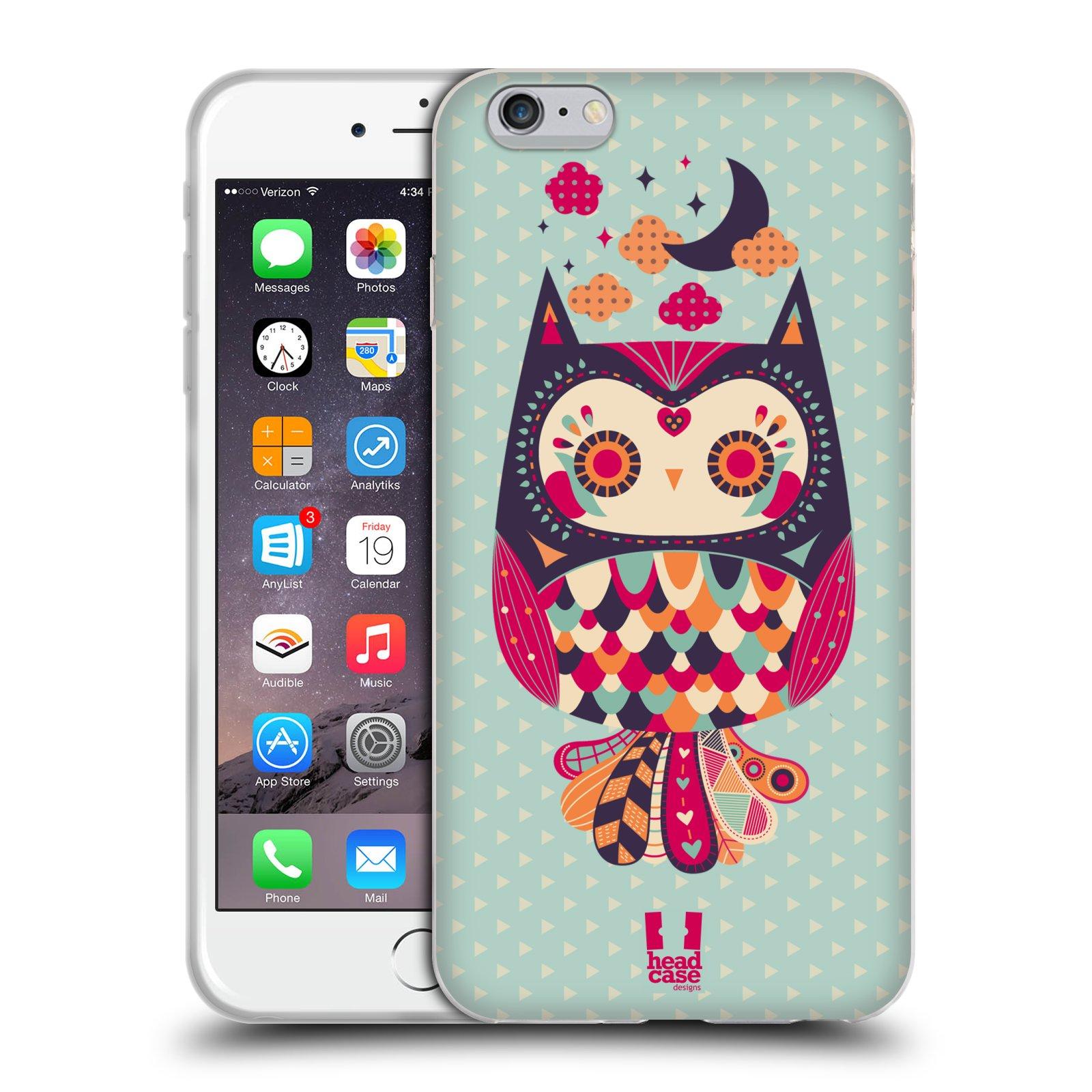 HEAD CASE silikonový obal na mobil Apple Iphone 6 PLUS/ 6S PLUS vzor Stmívání sovička růžová a fialová