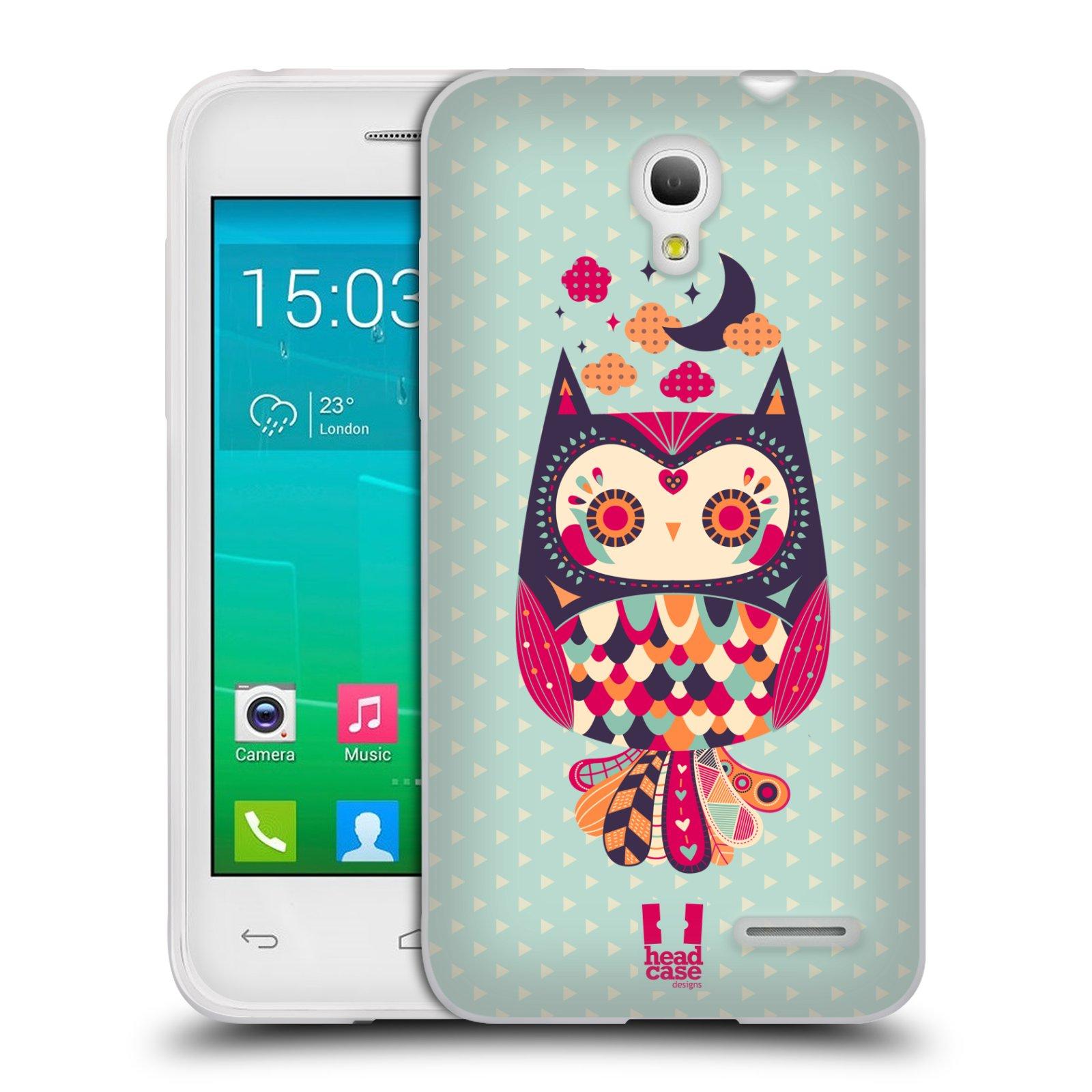 HEAD CASE silikonový obal na mobil Alcatel POP S3 OT-5050Y vzor Stmívání sovička růžová a fialová