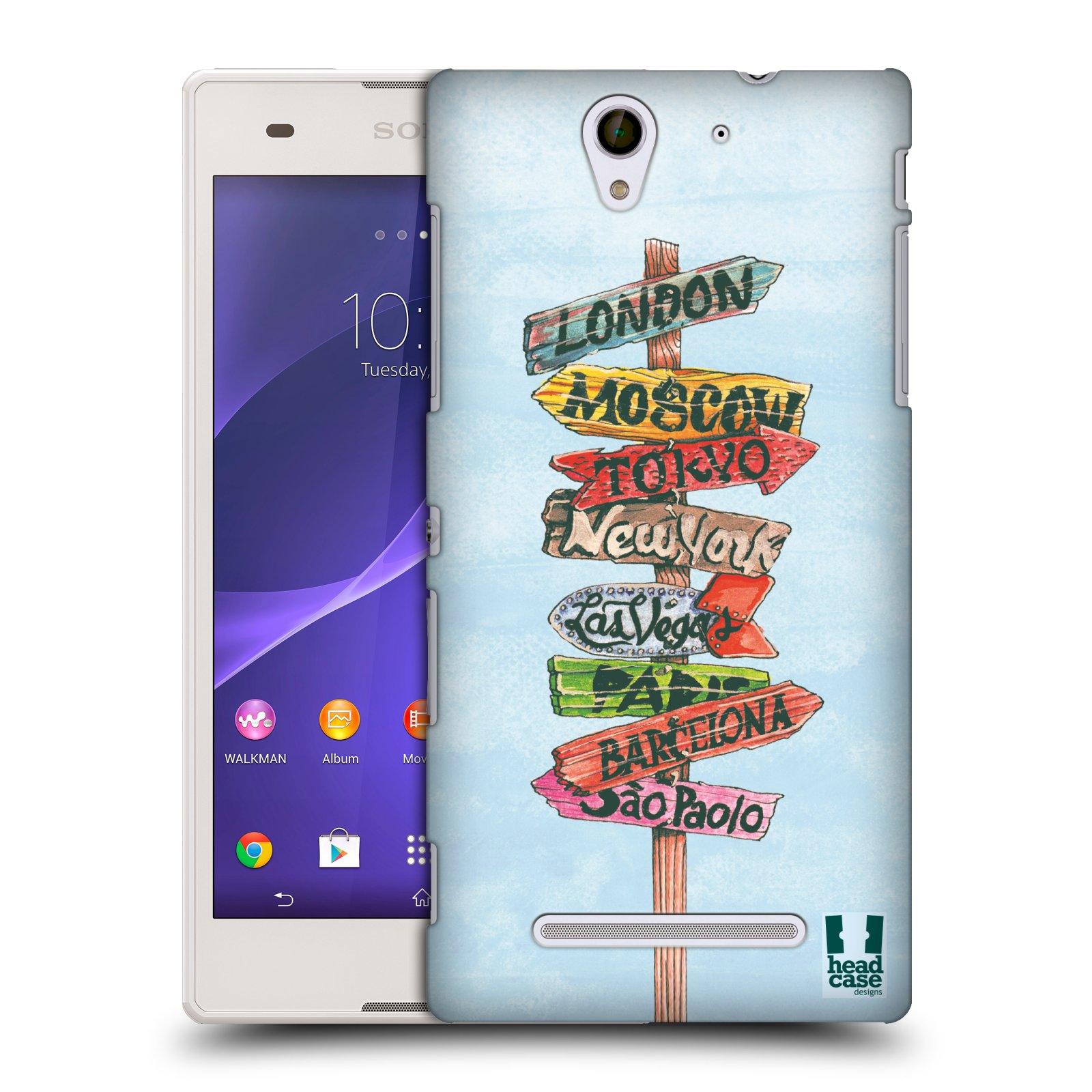 HEAD CASE DESIGNS NOMAD HARD BACK CASE FOR SONY XPERIA C3 D2533
