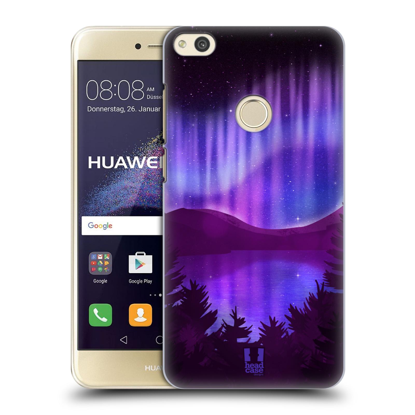 HEAD CASE silikonový obal na mobil Huawei P8 LITE 2017 vzor Severní polární záře POHLED NA JEZERO