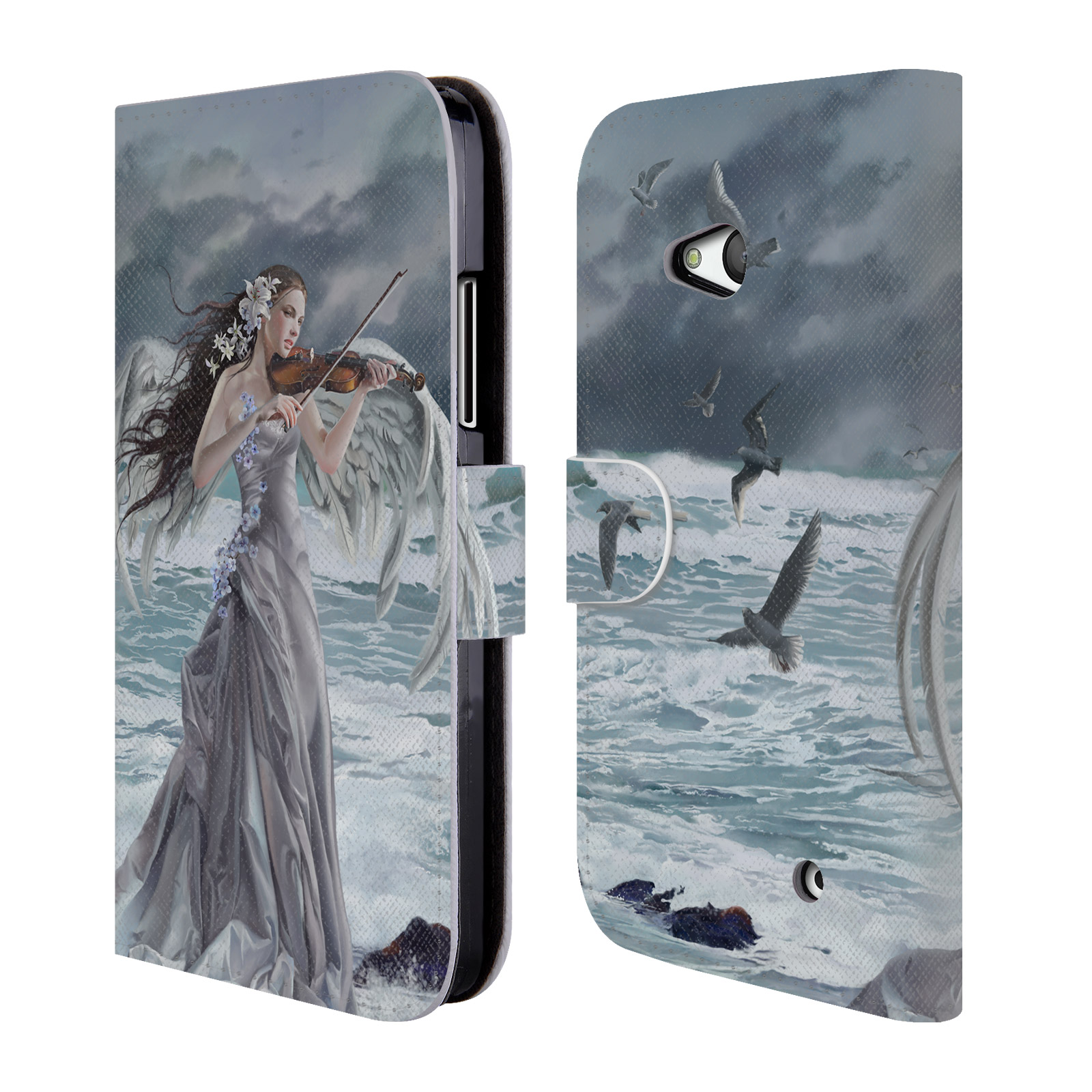 OFFICIAL NENE THOMAS ANGELS LEATHER BOOK WALLET CASE FOR MICROSOFT NOKIA PHONES