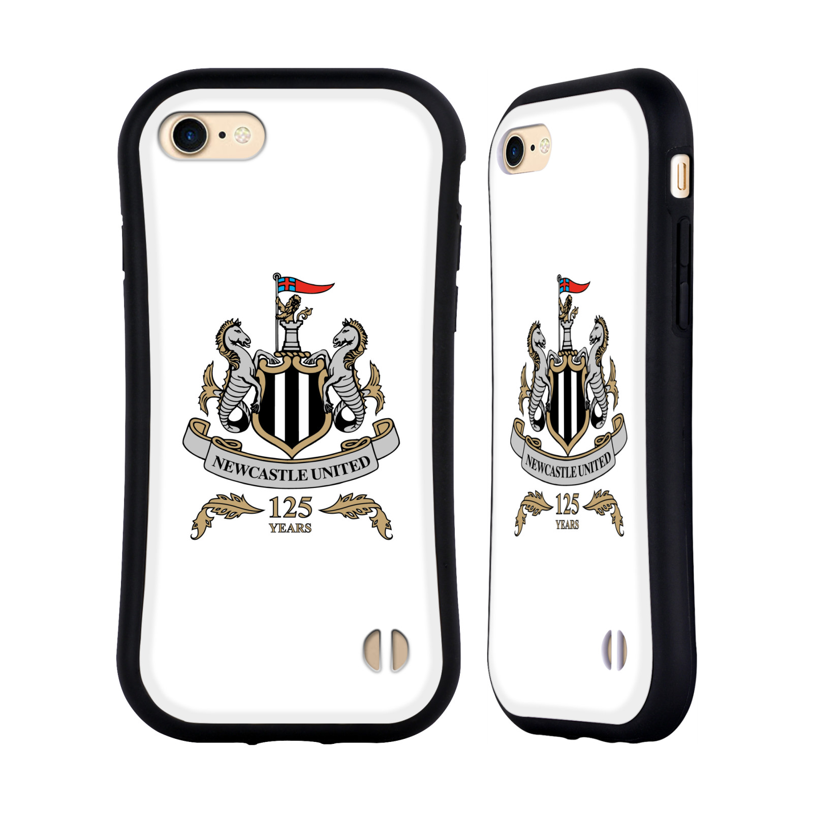 HEAD CASE odolný obal na mobil Apple Iphone 8 Fotbalový klub Newcastle United FC průhledný vzor velký znak