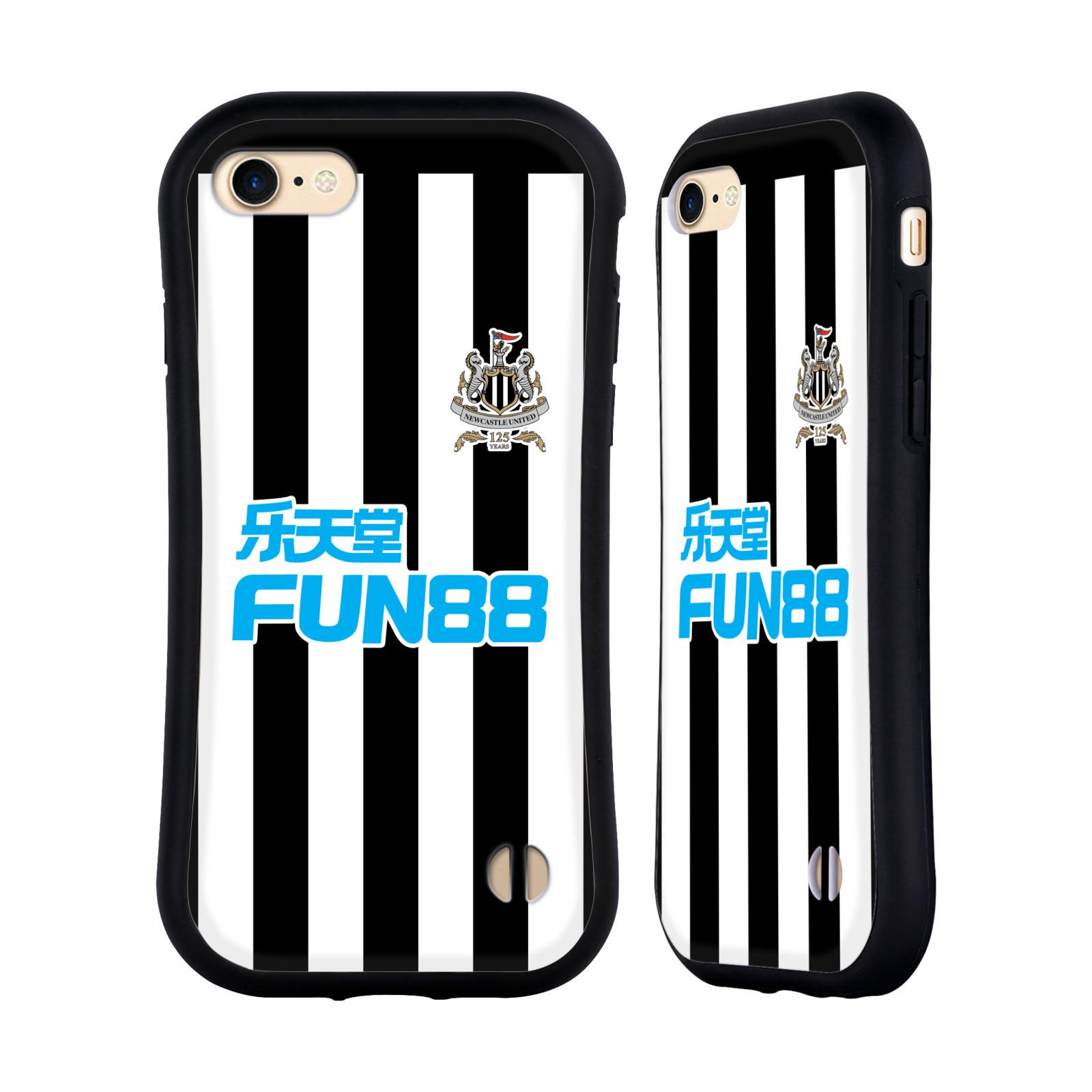HEAD CASE odolný obal na mobil Apple Iphone 8 Fotbalový klub Newcastle United FC pruhovaný vzor FUN88