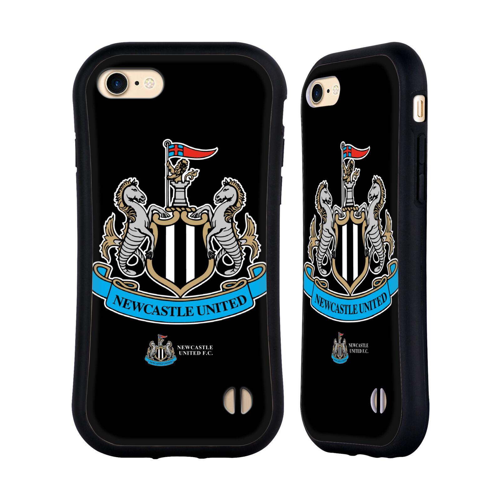 HEAD CASE odolný obal na mobil Apple Iphone 8 Fotbalový klub Newcastle United FC černá velký barevný znak