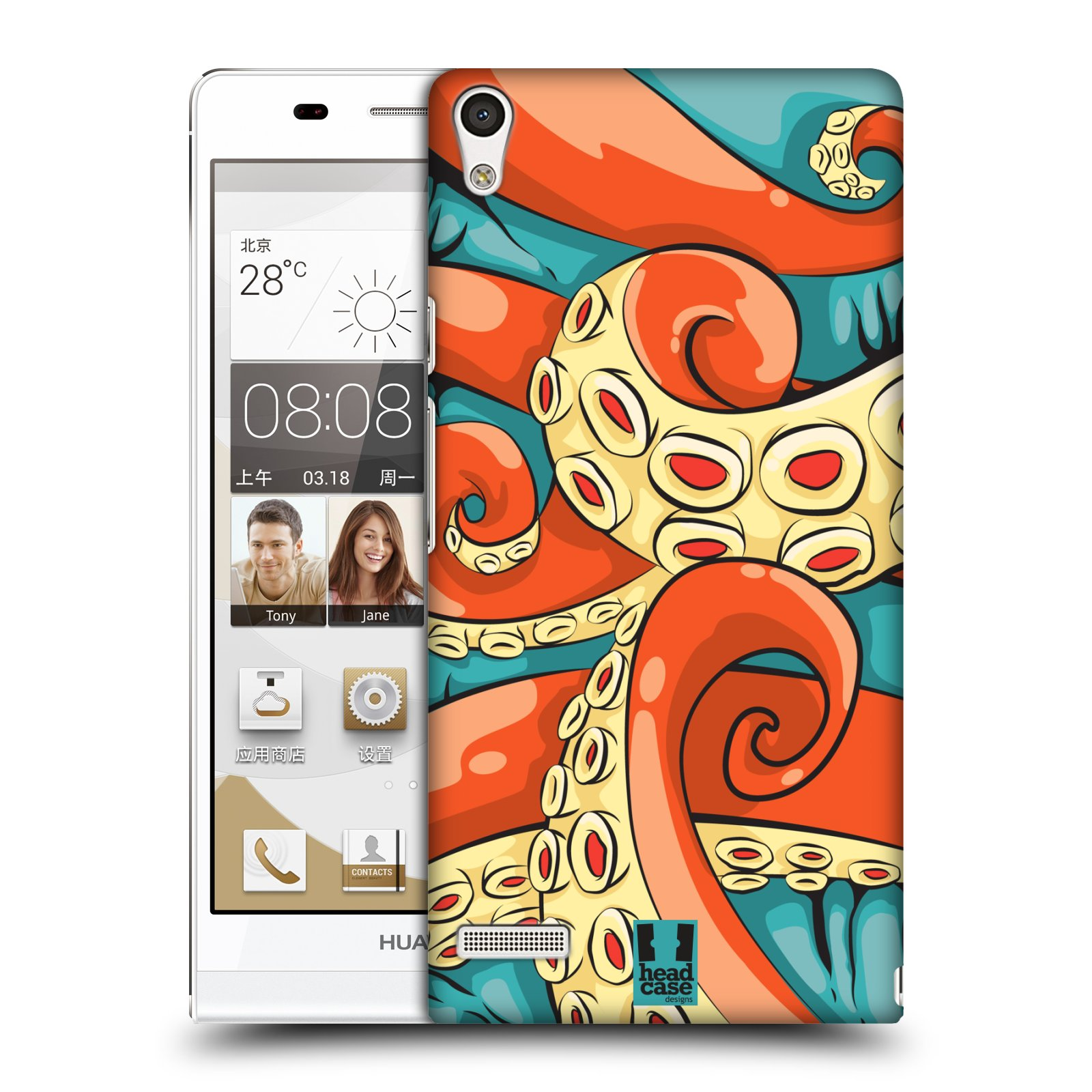 HEAD CASE OCTOFUSS SNAP-ON BACK COVER FOR HUAWEI ASCEND P6