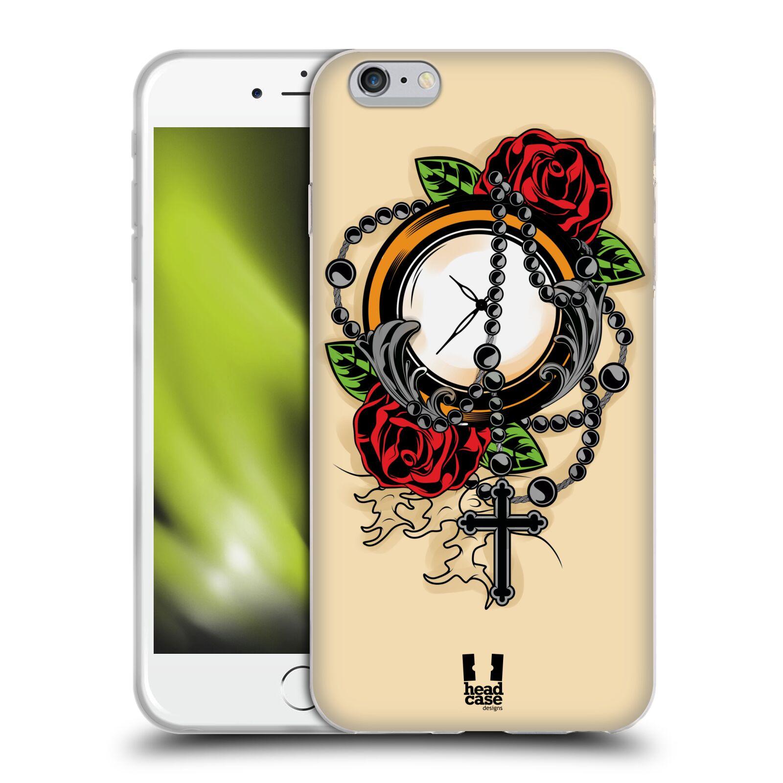 HEAD CASE silikonový obal na mobil Apple Iphone 6 PLUS/ 6S PLUS vzor Klasické tetování old school HODINY