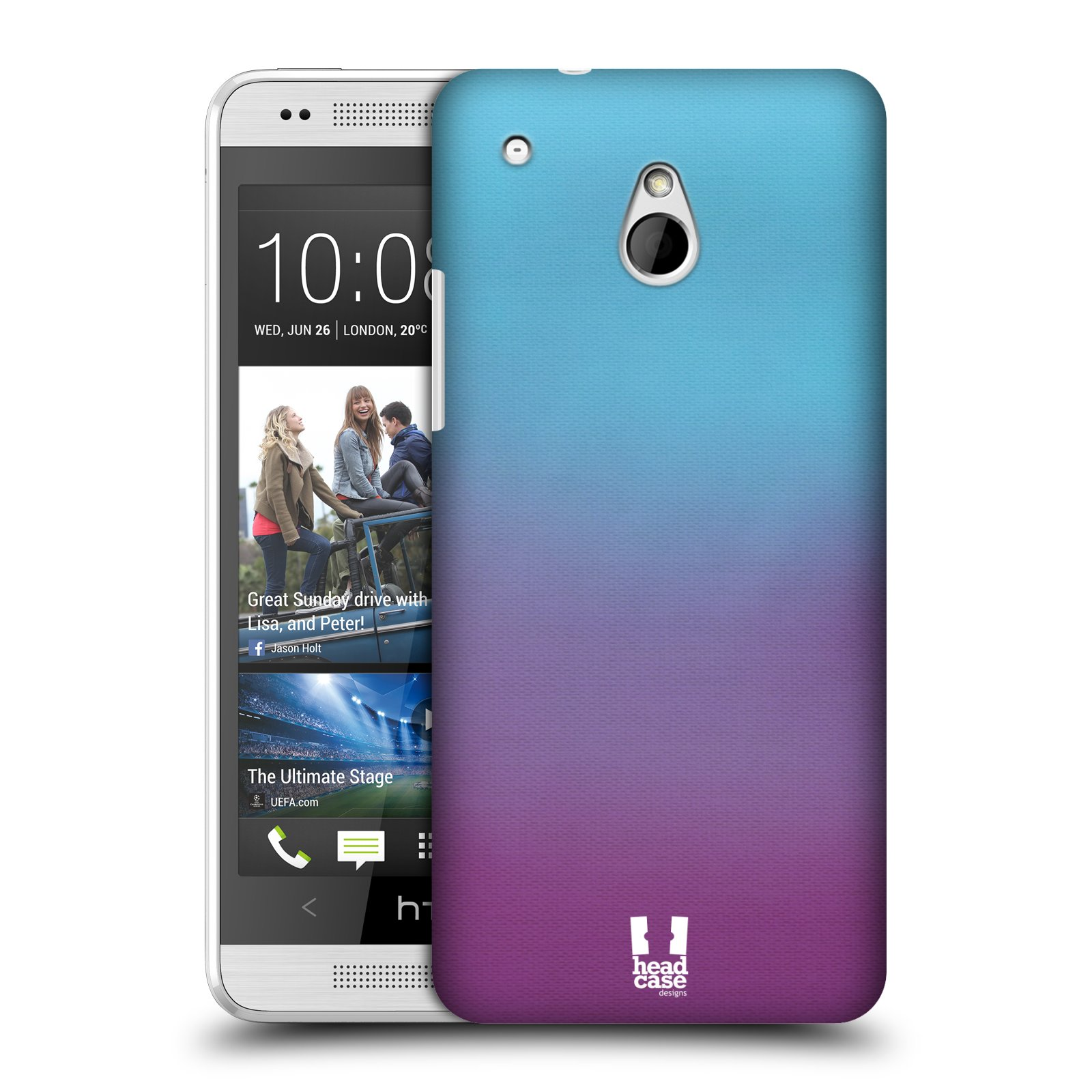 HEAD CASE DESIGNS OMBRE PROTECTIVE SNAP-ON HARD BACK CASE COVER FOR HTC ONE MINI