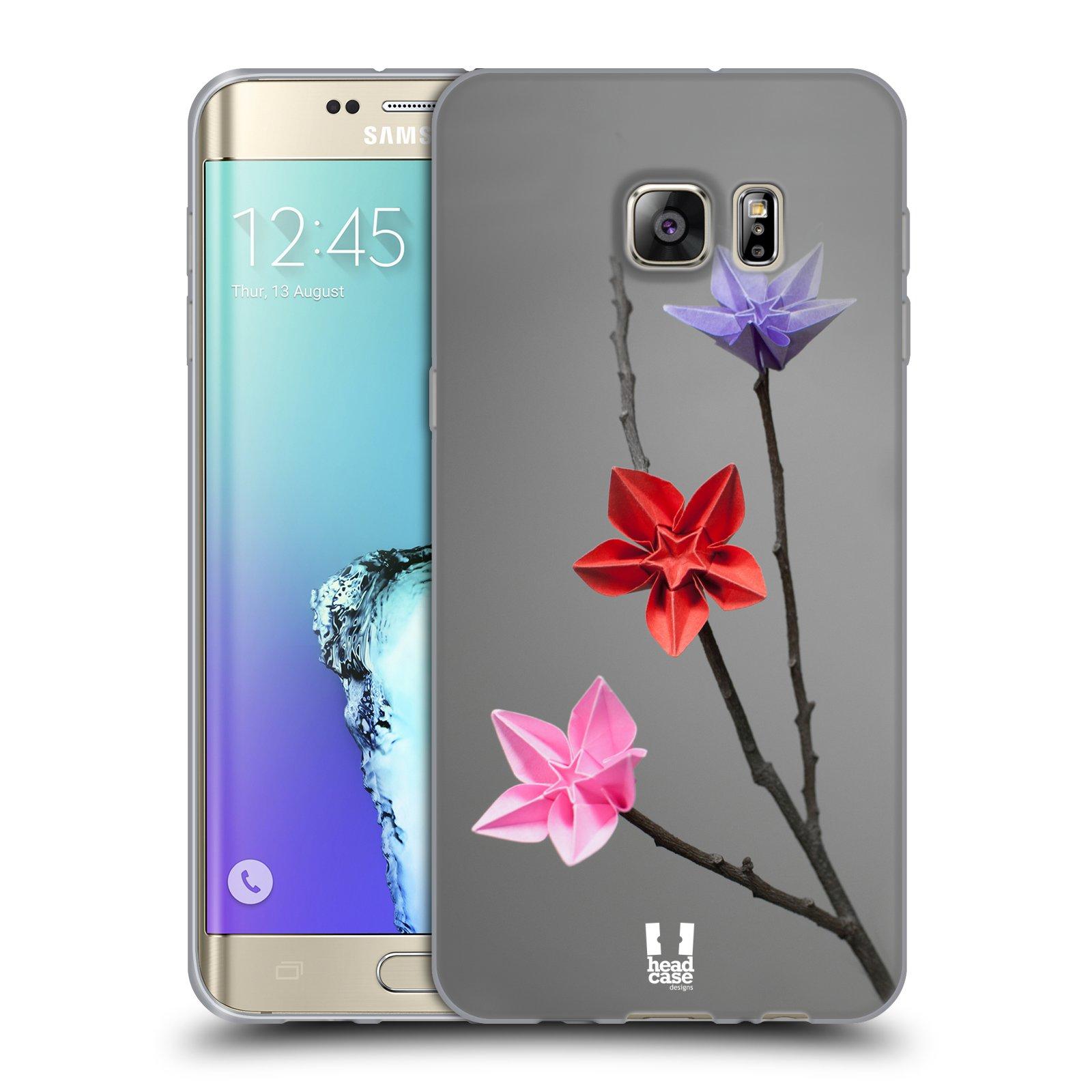 HEAD CASE silikonový obal na mobil Samsung Galaxy S6 EDGE PLUS vzor ORIGAMI KVĚTINA hvězda